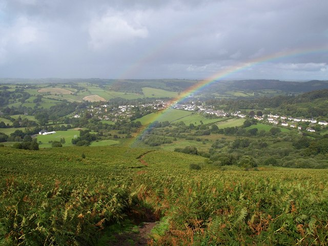 Double rainbow on Meldon Hill - geograph.org.uk - 1478667
