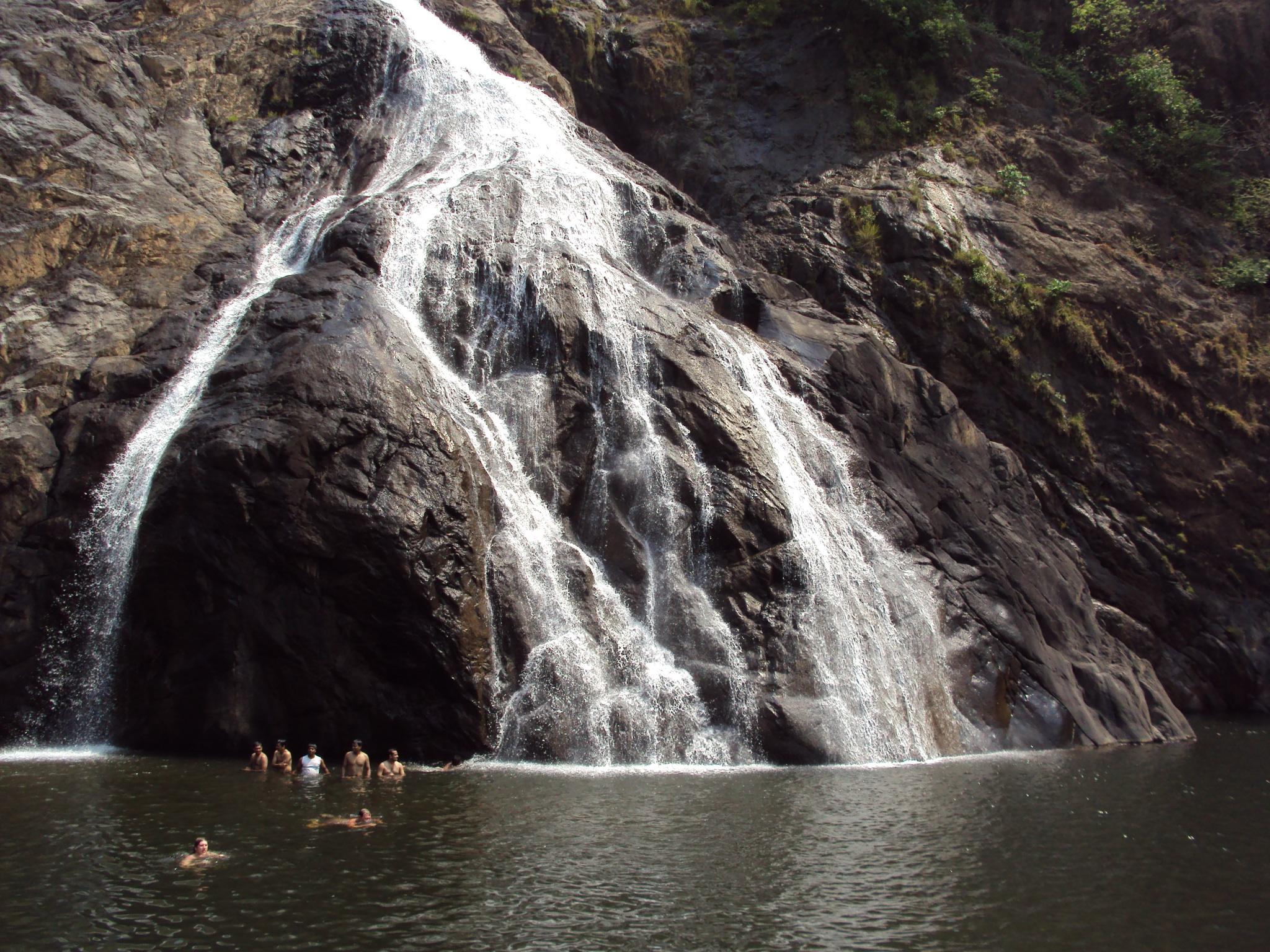 Goa Train Waterfall The Milky Waterfall Goa
