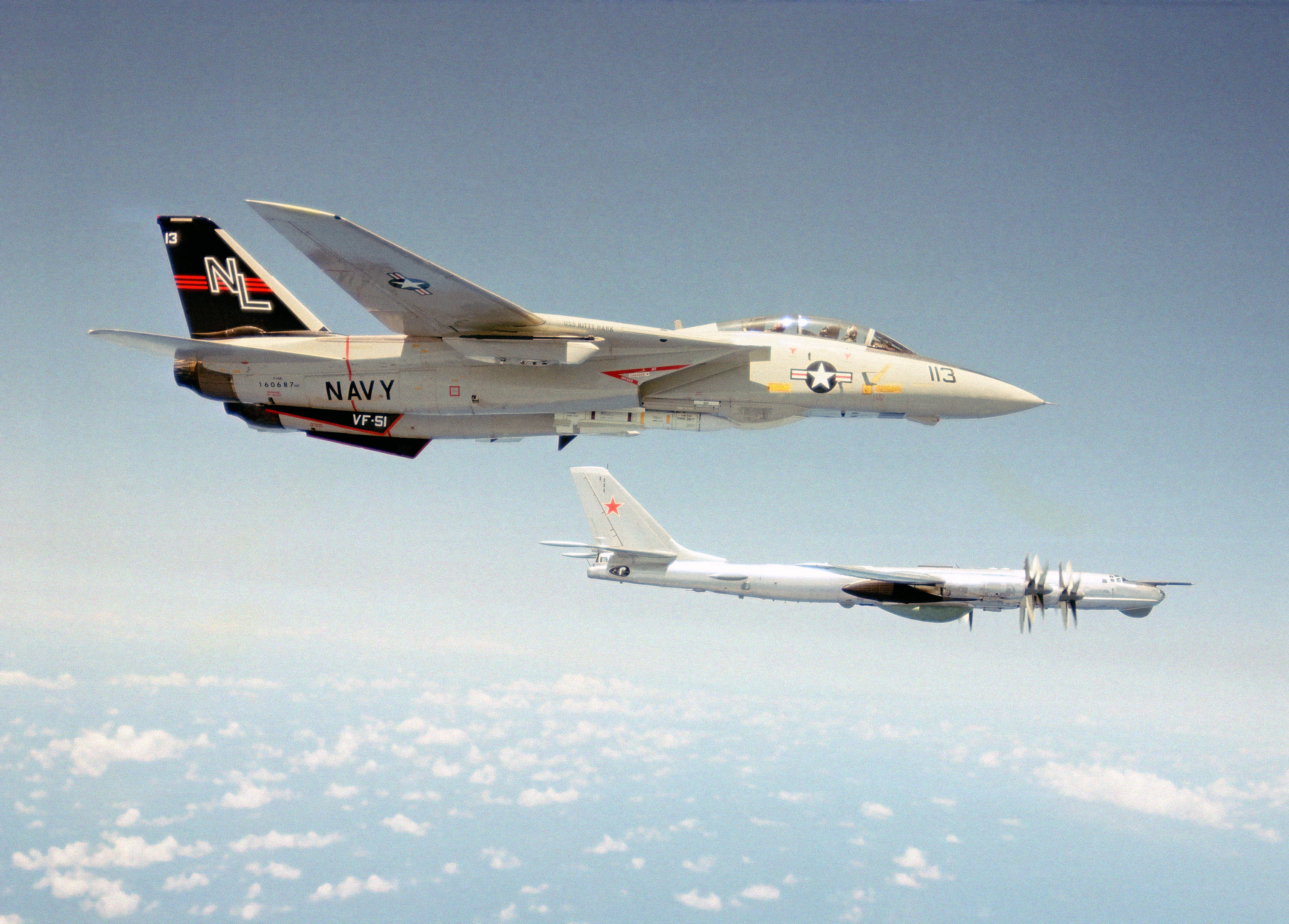 Filef 14 Tomcat Vf 51 Intercepting Tu 95 Bearjpg Wikimedia Commons