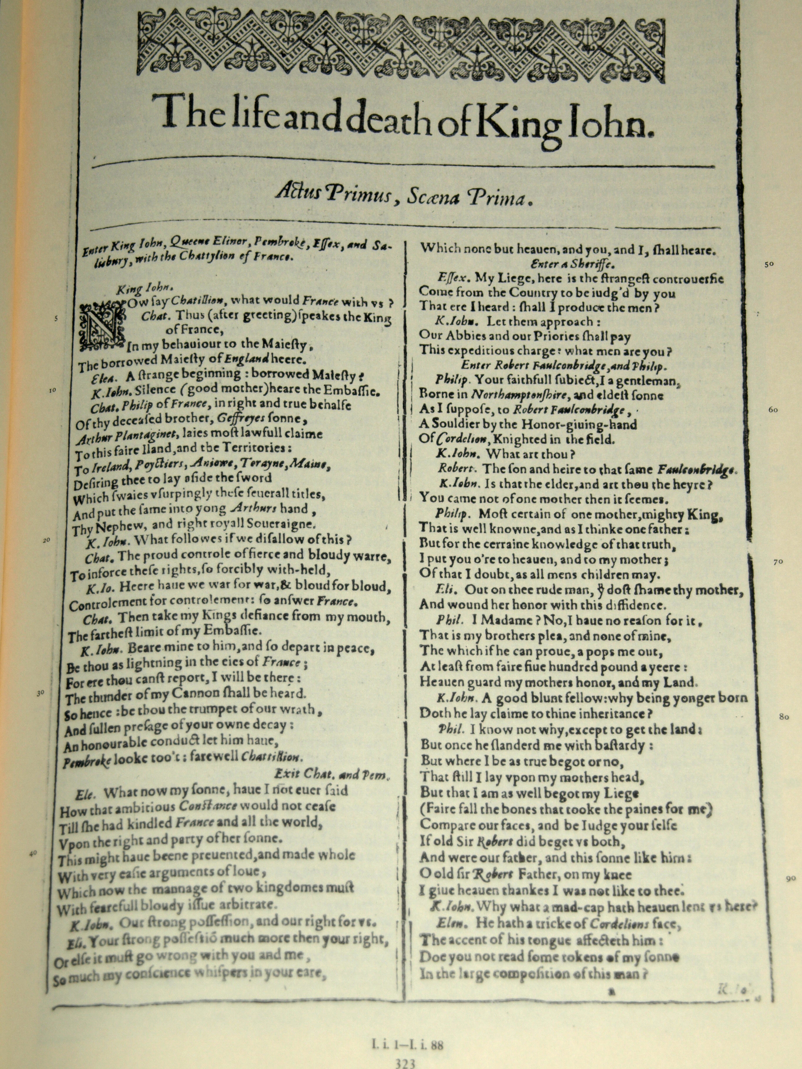 Shakespeare's play The Life and Death of King John