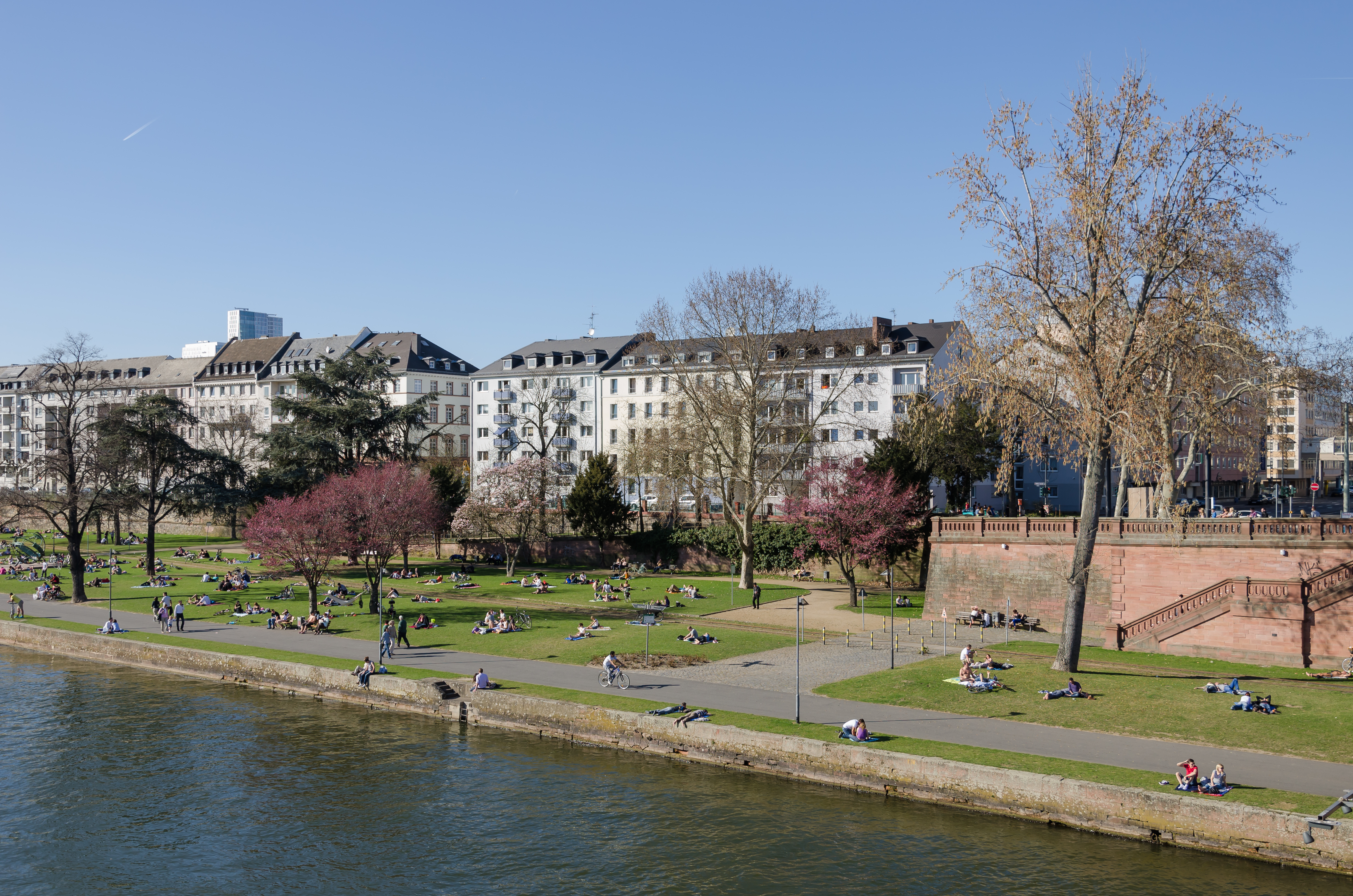First Warm (Sun)day Of The Year In Frankfurt, Germany. Please Have