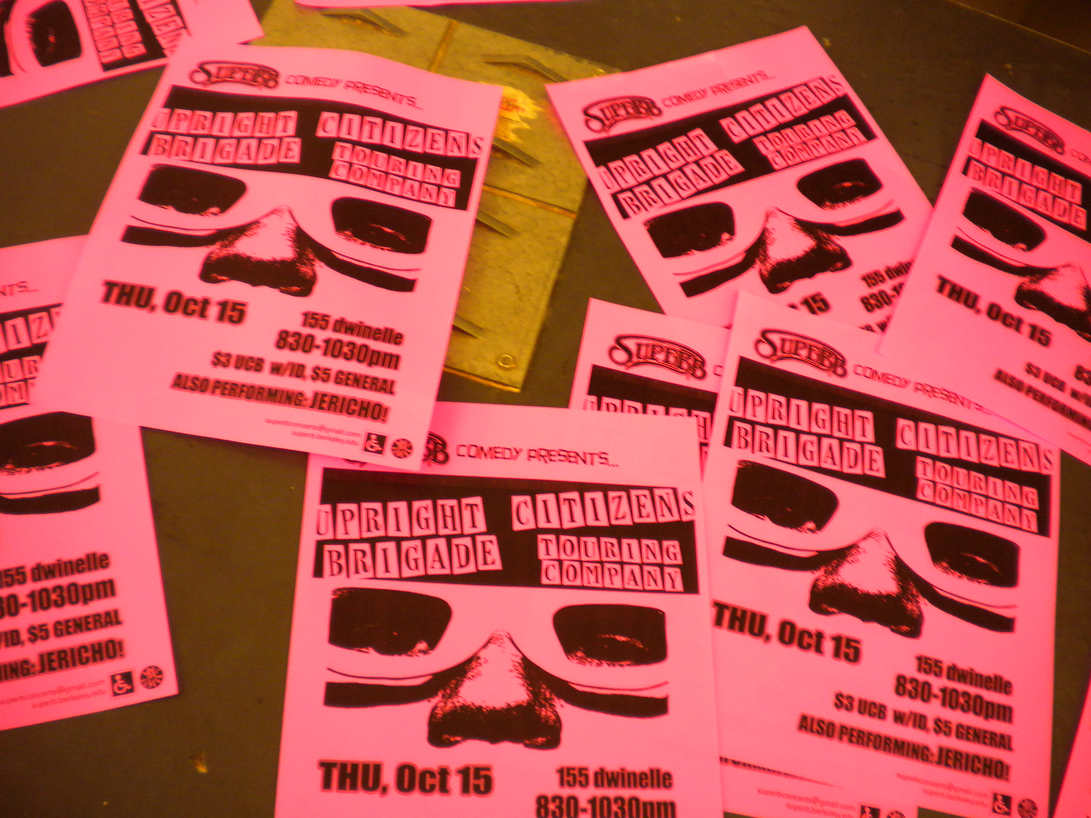 Fileflyers For Upright Citizens Brigade Show At Uc Berkeley Jpg Wikimedia Commons