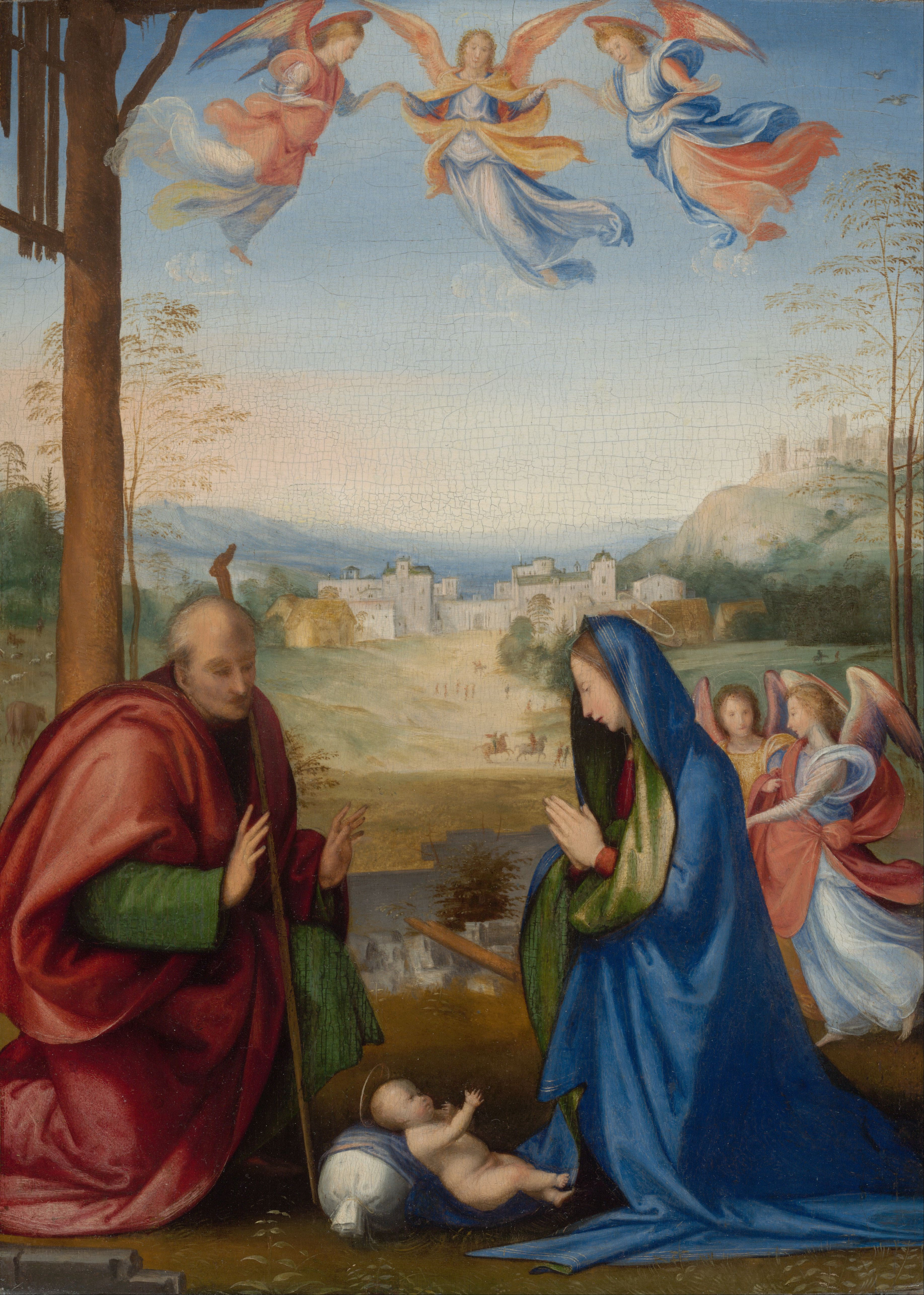 File fra bartolomeo the nativity google art project for Christmas images paintings