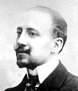 Gabriele D'Annunzio, national poet (vate) of Italy and a prominent nationalist revolutionary who was a supporter of Italy joining action in World War I Gabriele D'Annunzio.jpg
