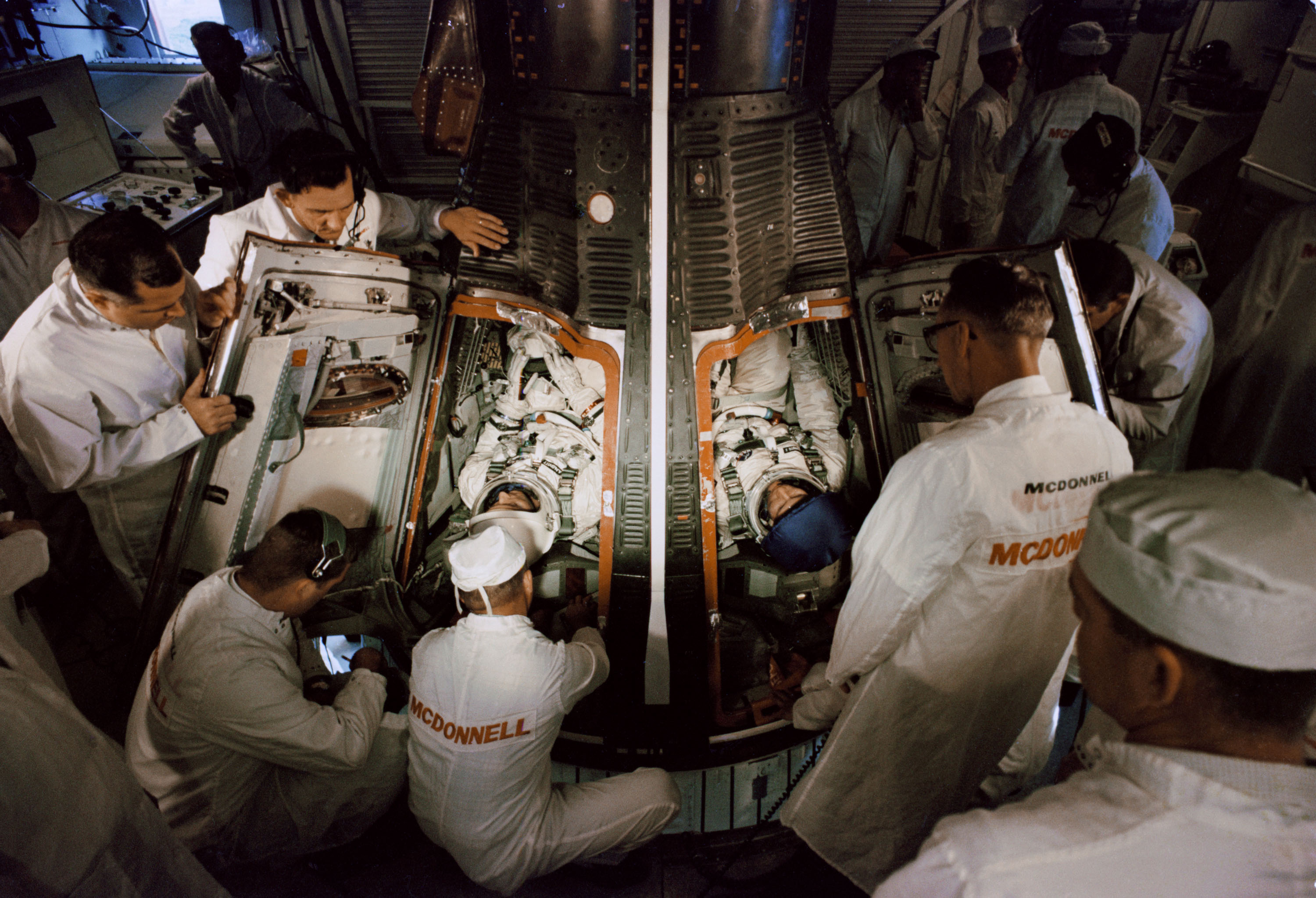 jim and kims mission to space Jim lovell first went into space aboard gemini 7 in 1965 he was also the gemini 12 mission commander before serving as the command module pilot on apollo 8, the first time humans orbited the moon.