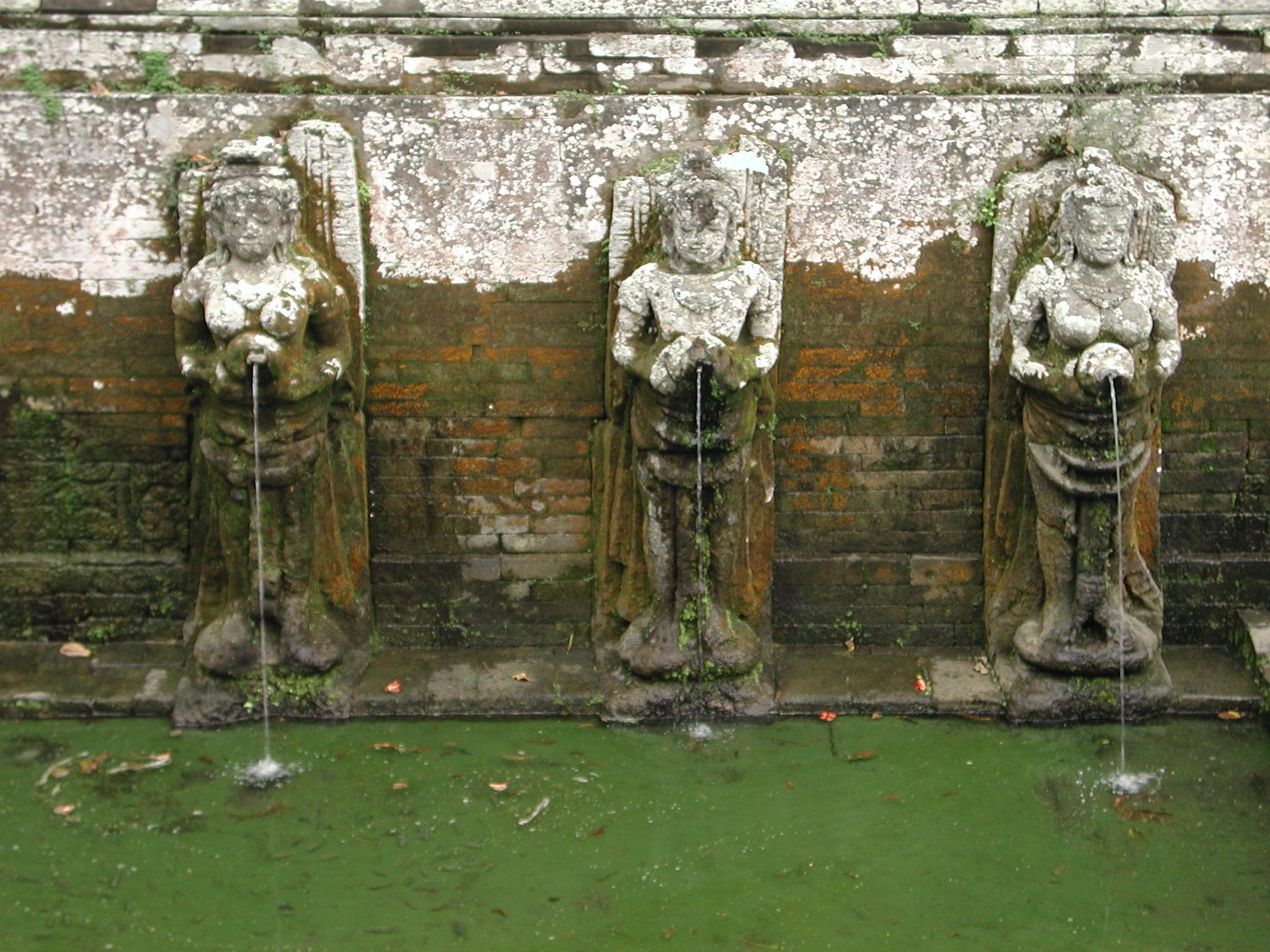 File Goa Gajah Bathing Temple Fountains Close Up Jpeg