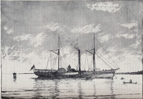 1818 : Walk-in-the-Water Launched, First Steamboat To Reach Detroit