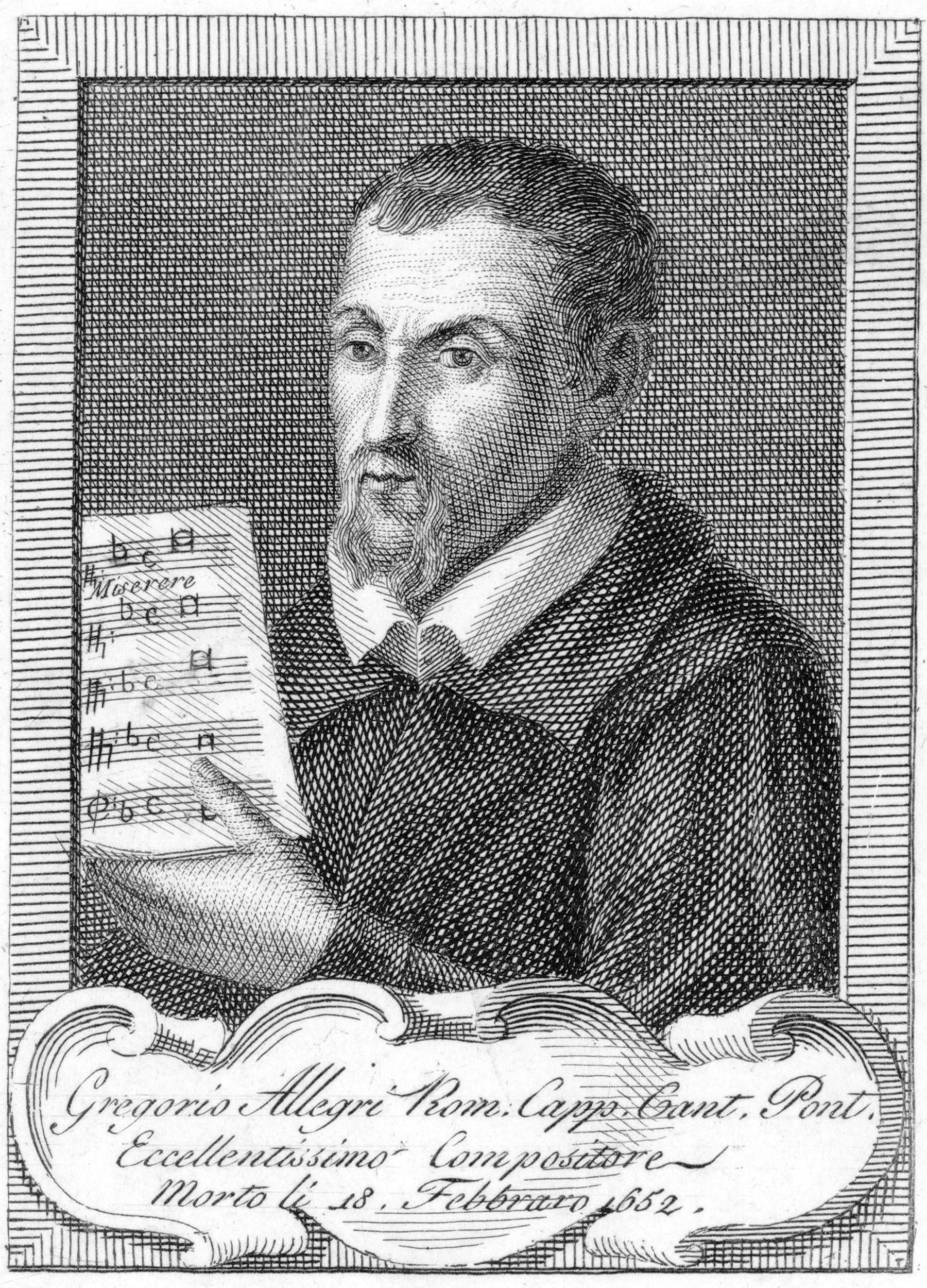 Depiction of Gregorio Allegri