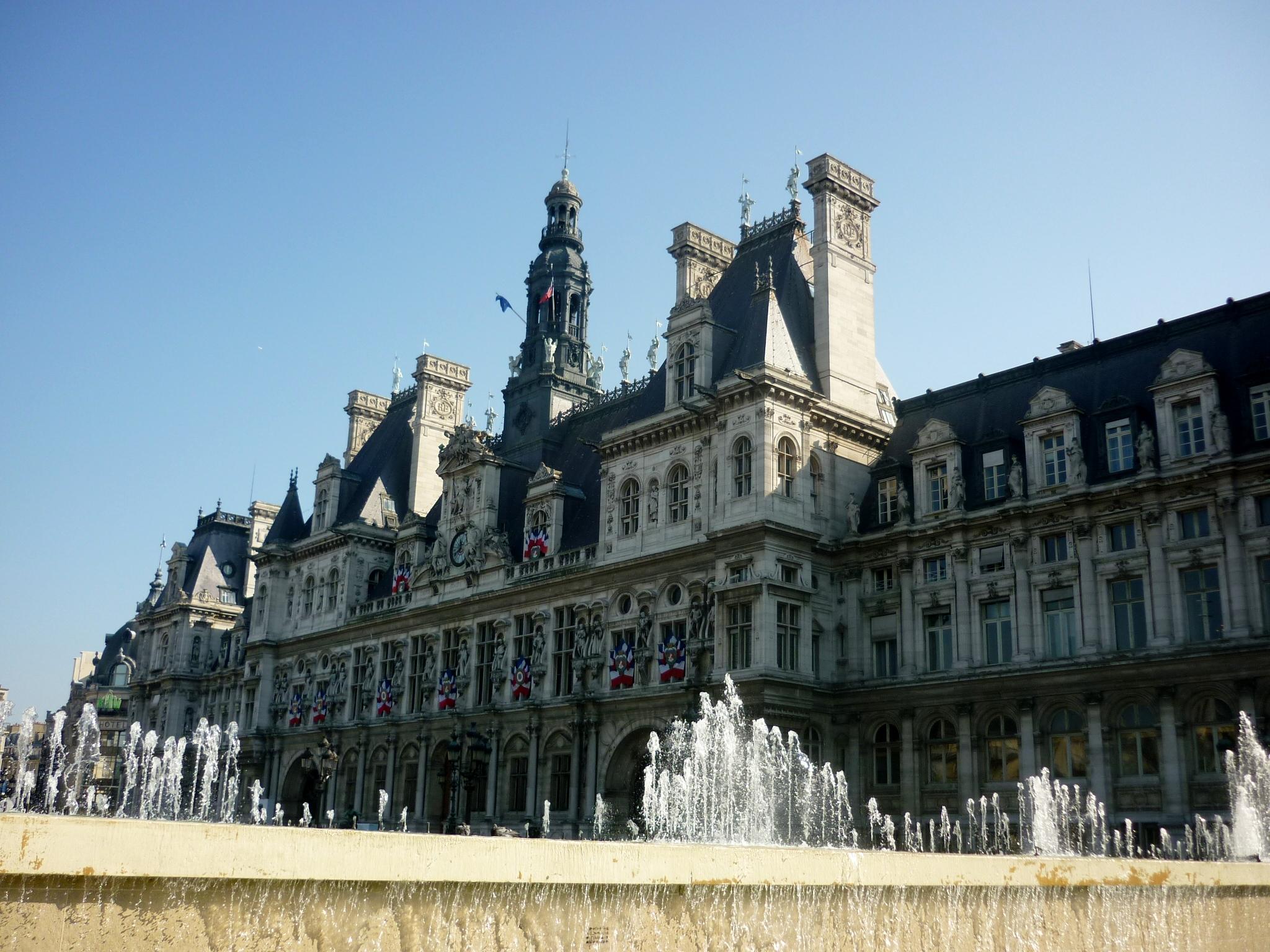 File h tel de ville paris 2009 jpg wikimedia commons for Hotel deville paris