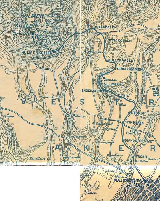 holmenkollbanen kart File:Holmenkollbanen map old.   Wikimedia Commons holmenkollbanen kart