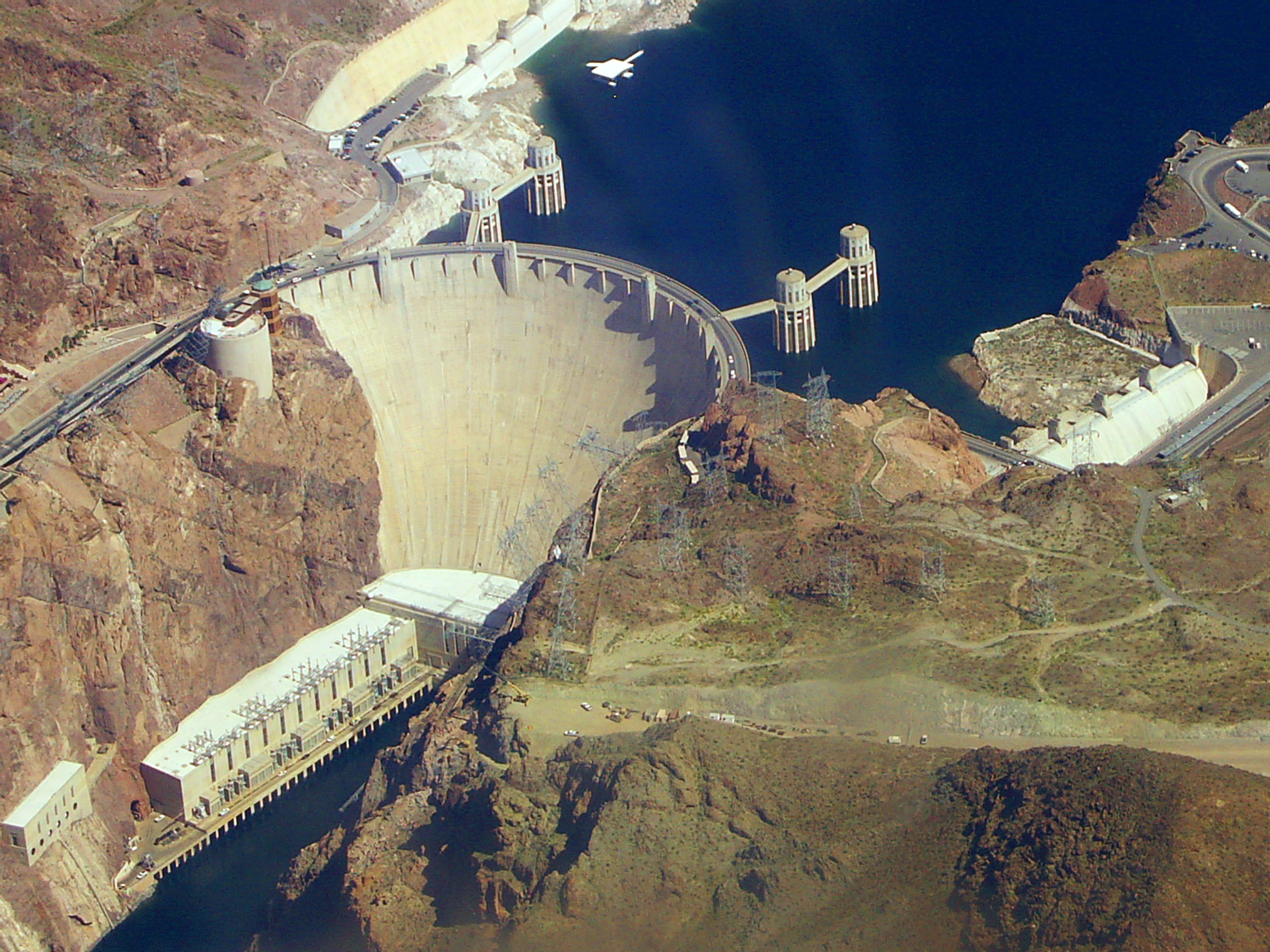 File Hoover Dam From Air Jpg Wikimedia Commons
