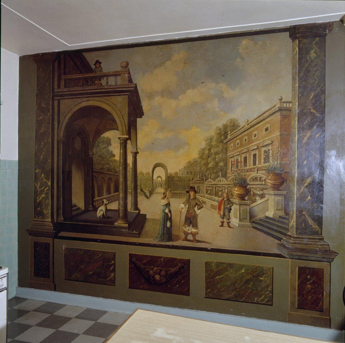 File interieur keuken overzicht muurschildering for Interieur 605