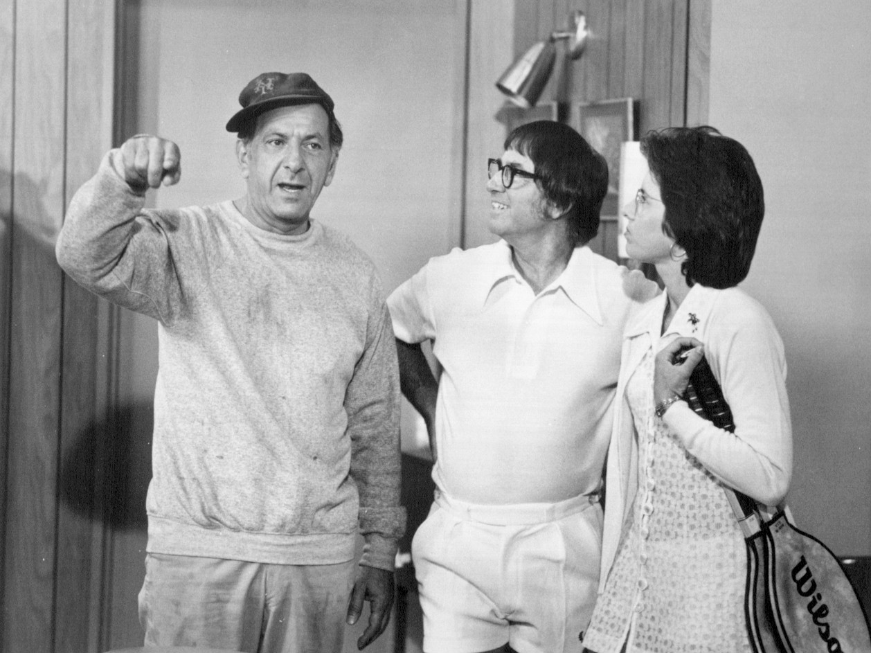 File Jack Klugman Bobby Riggs Billie Jean King Odd Couple