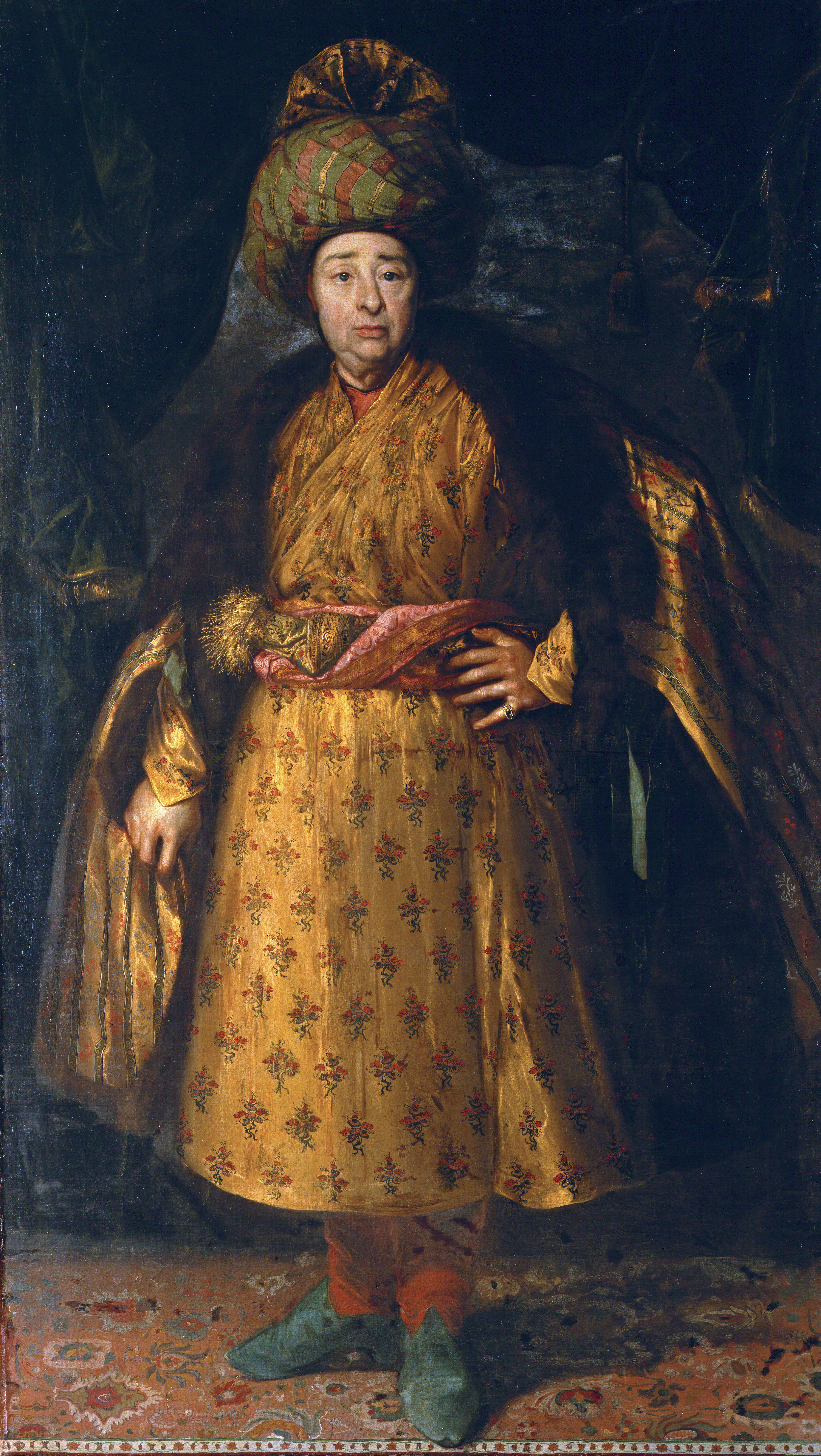 Jean-Baptiste Tavernier in oriental costume, 1679