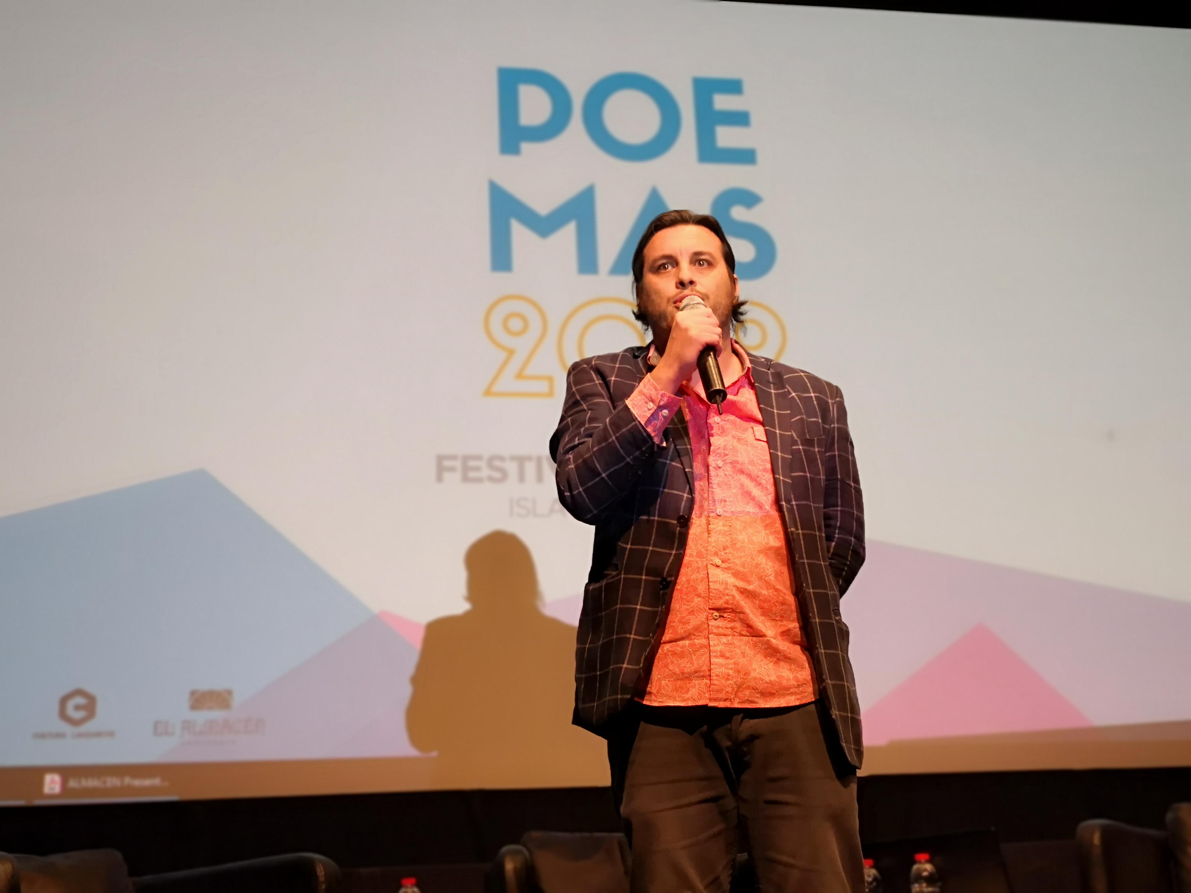 José Manuel Díez presenta el Festival de Poesía en Lanzarote, Enero 2019