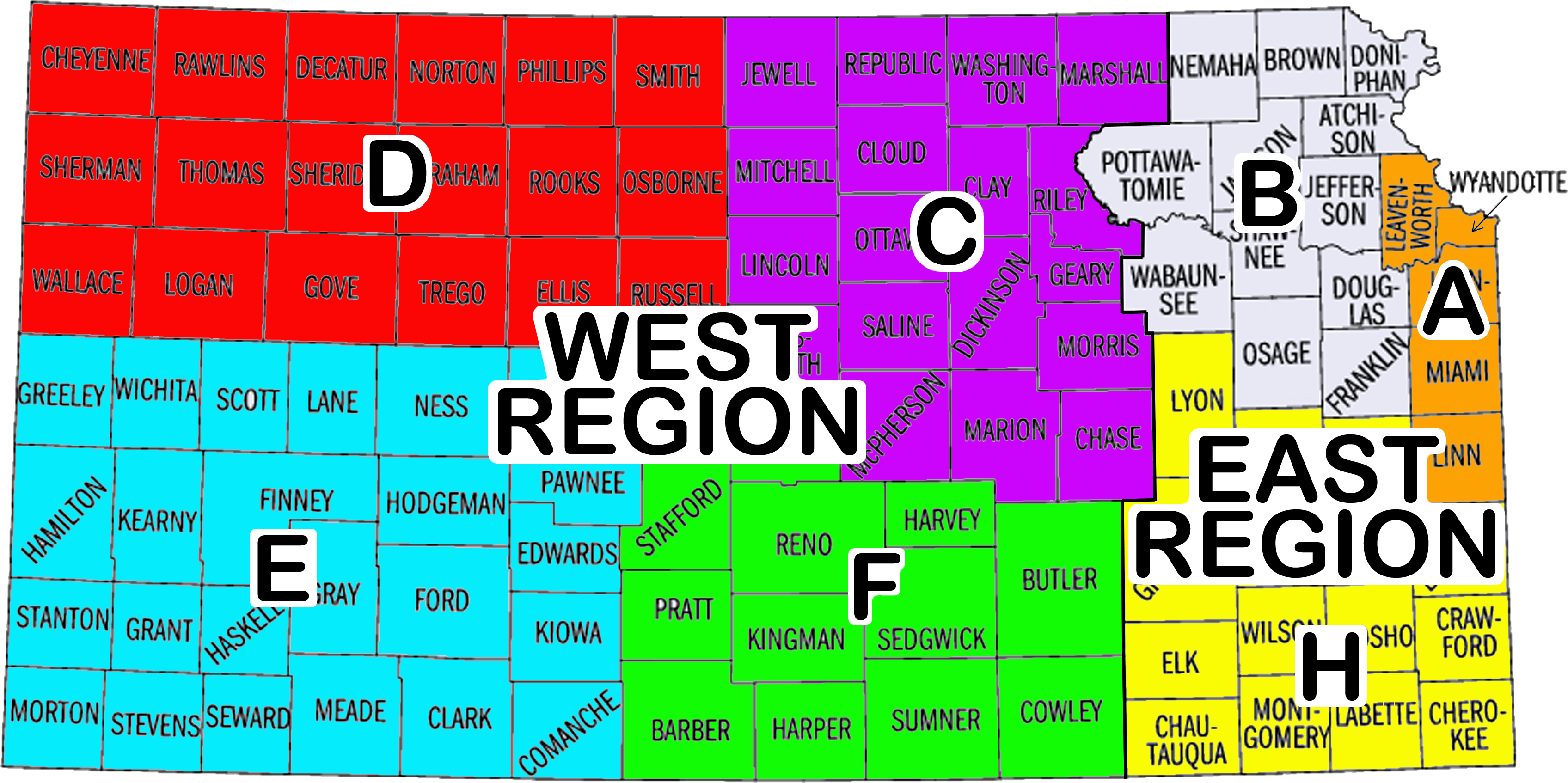 kansas highway conditions map File Ks Highway Patrol Troop Map Png Wikimedia Commons kansas highway conditions map