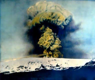 Katla eruption in 1918