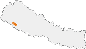 Map showing the location of Bardiya National Park