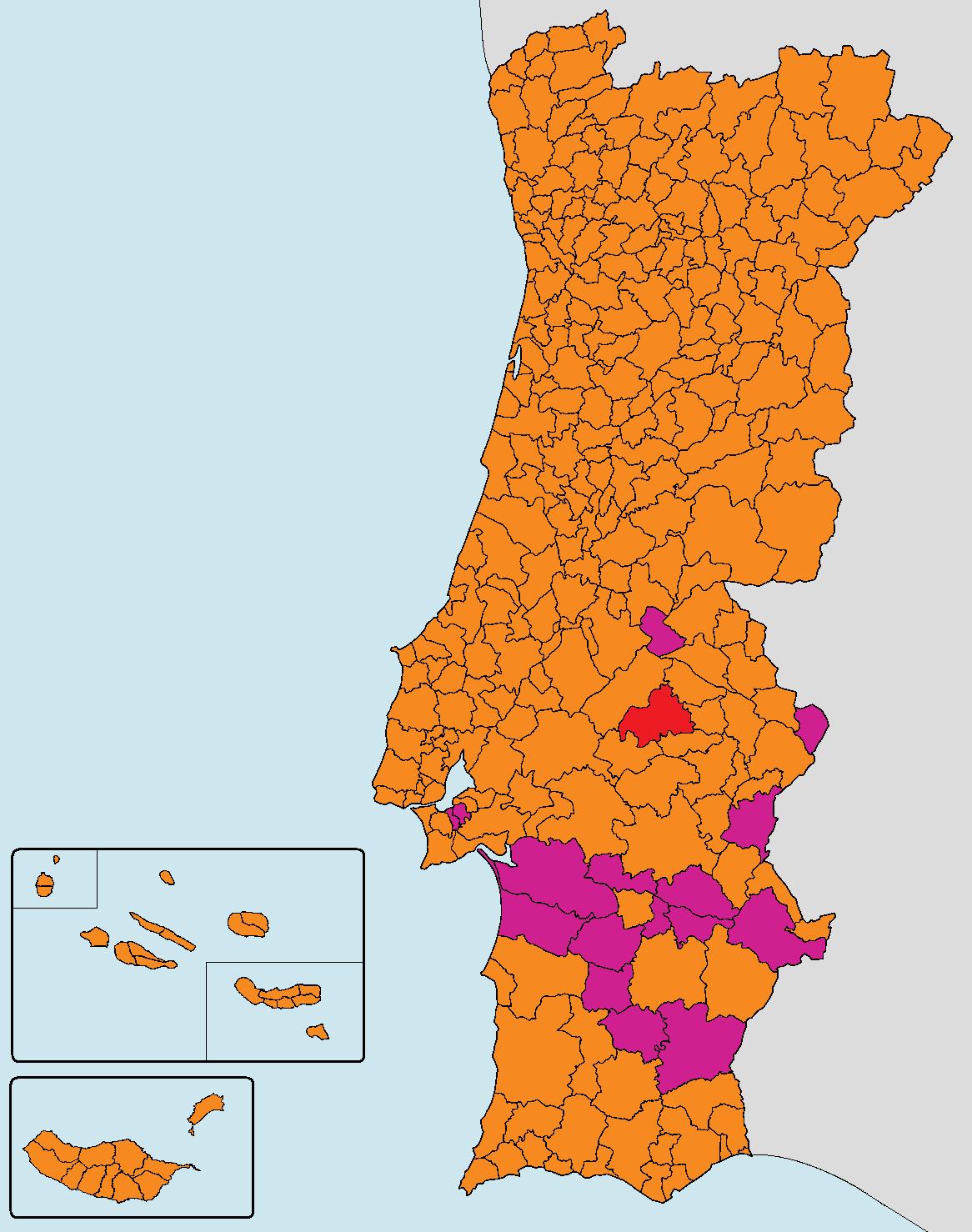 mapa eleitoral portugal Ficheiro:Mapa dos resultados da eleição presidencial de Portugal  mapa eleitoral portugal