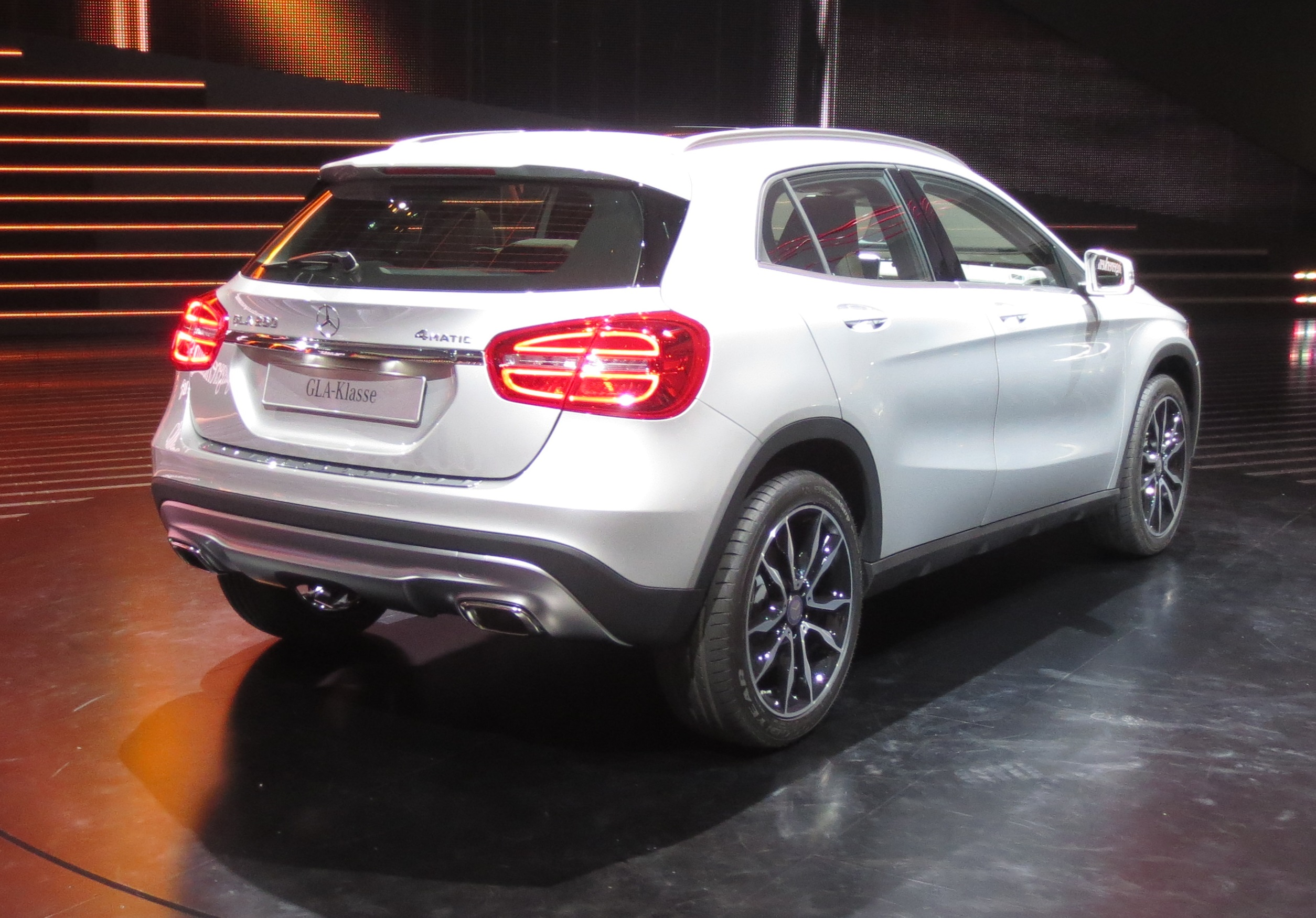File:Mercedes-Benz-GLA Rear-view.jpg - Wikimedia Commons