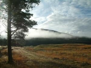 Glenmoriston glen in the Highland region of Scotland