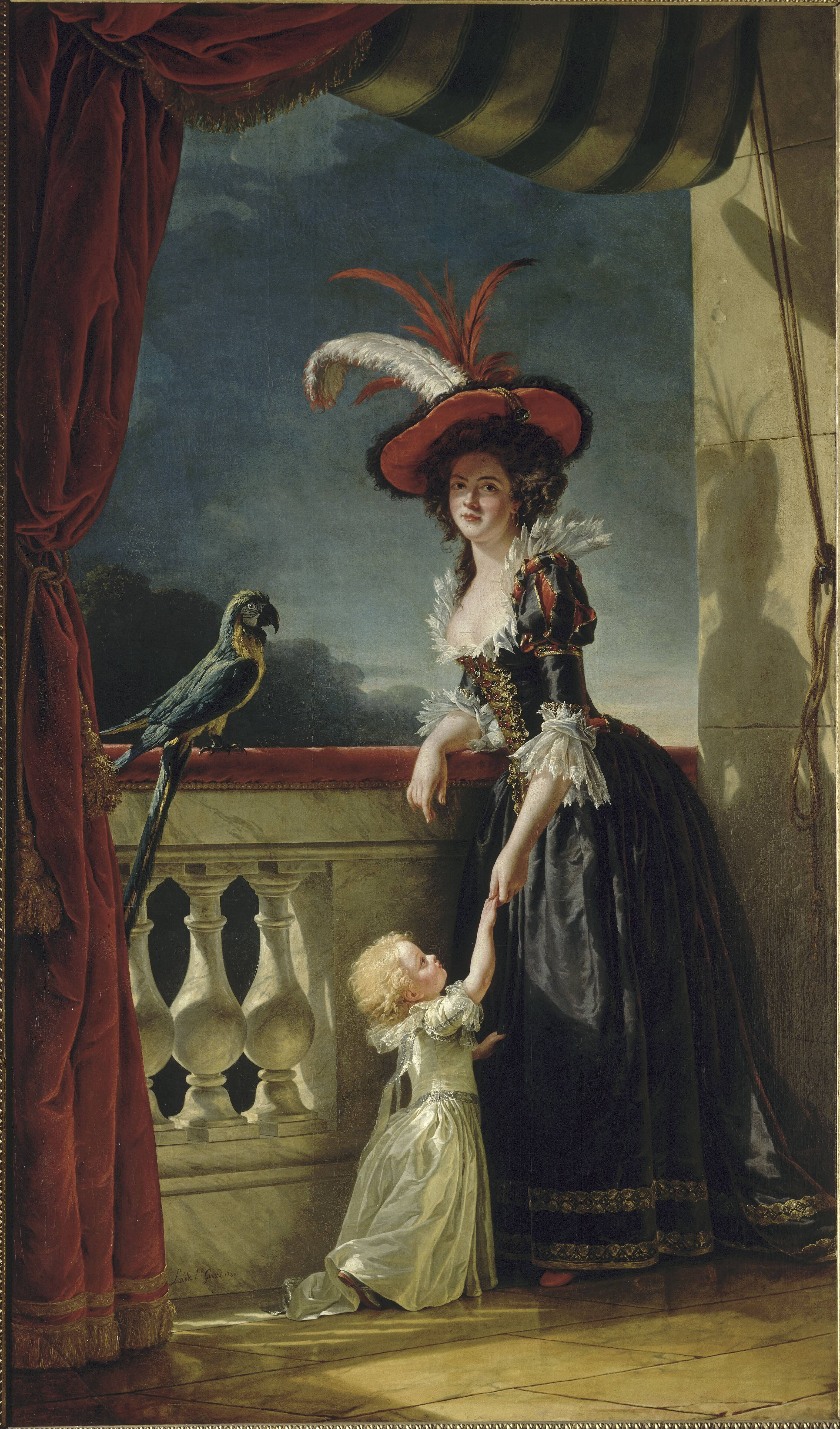 La comtesse Diane de Polignac  - Page 8 Mme_Louise-Elisabeth_with_her_two_year_old_son