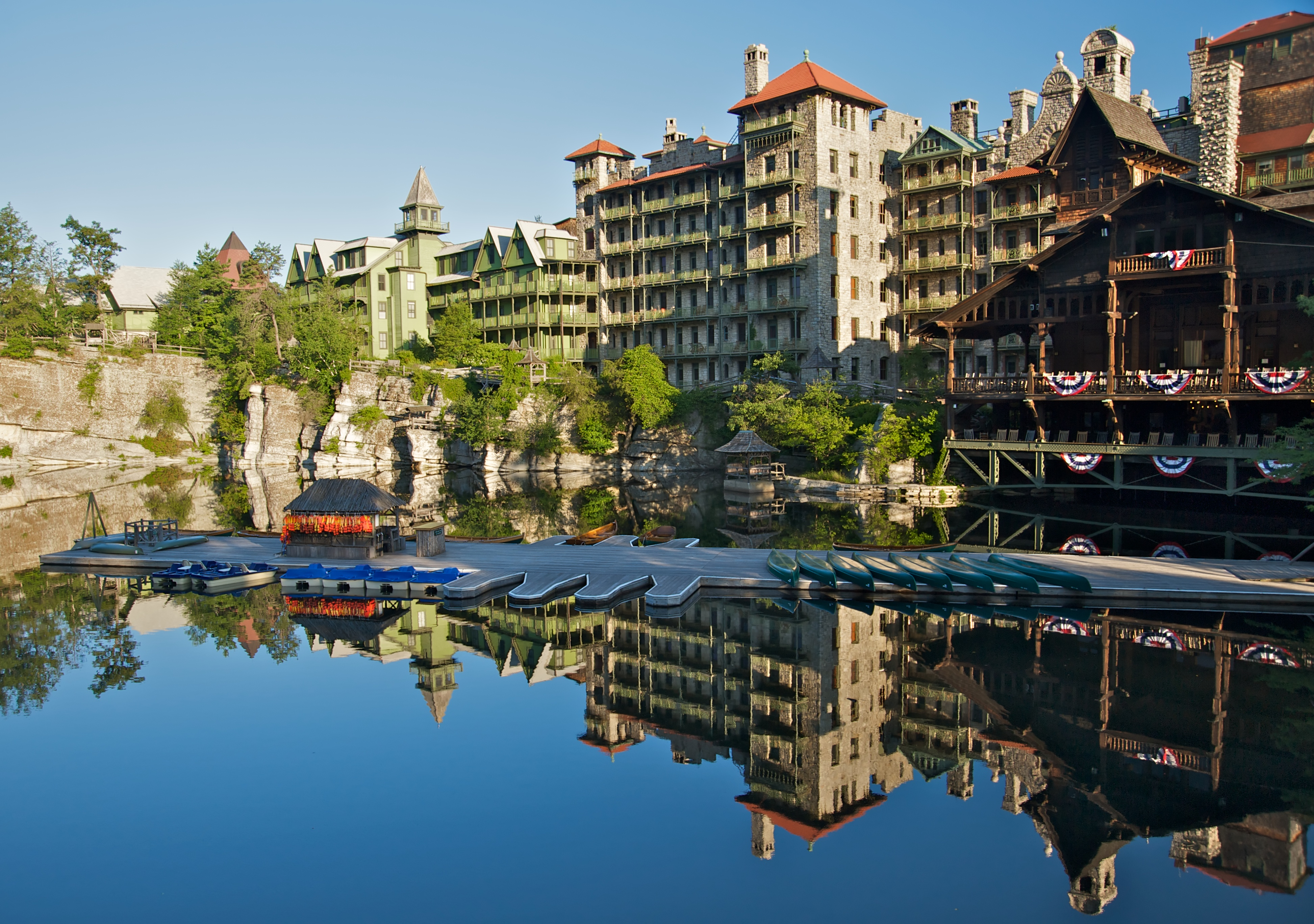 File Mohonk Mountain House 2017 Boat Dock Against Guest Rooms Frd 3041 Jpg