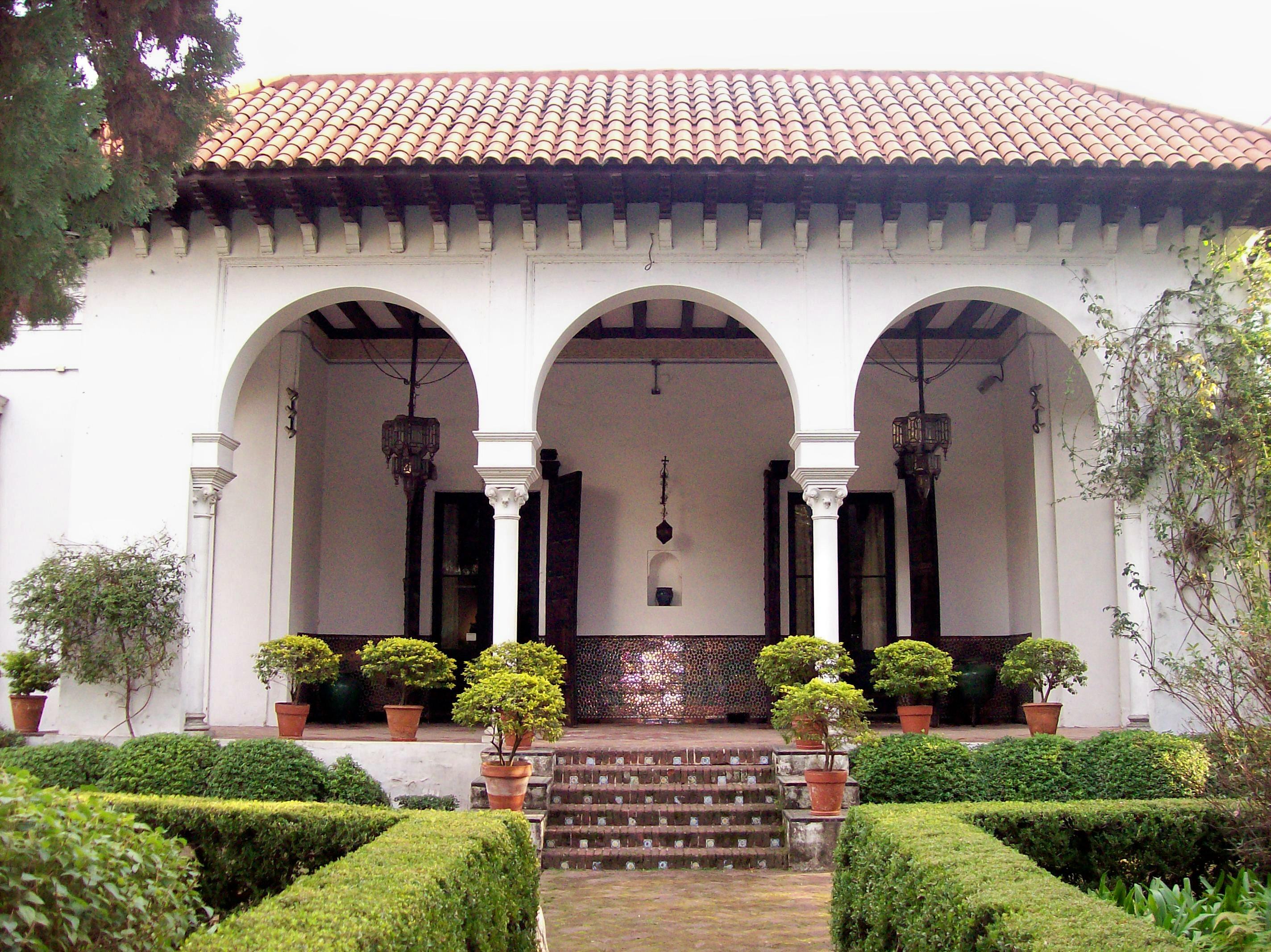 File museo de arte espa ol enrique larreta escalera jard n - Escaleras para jardin ...