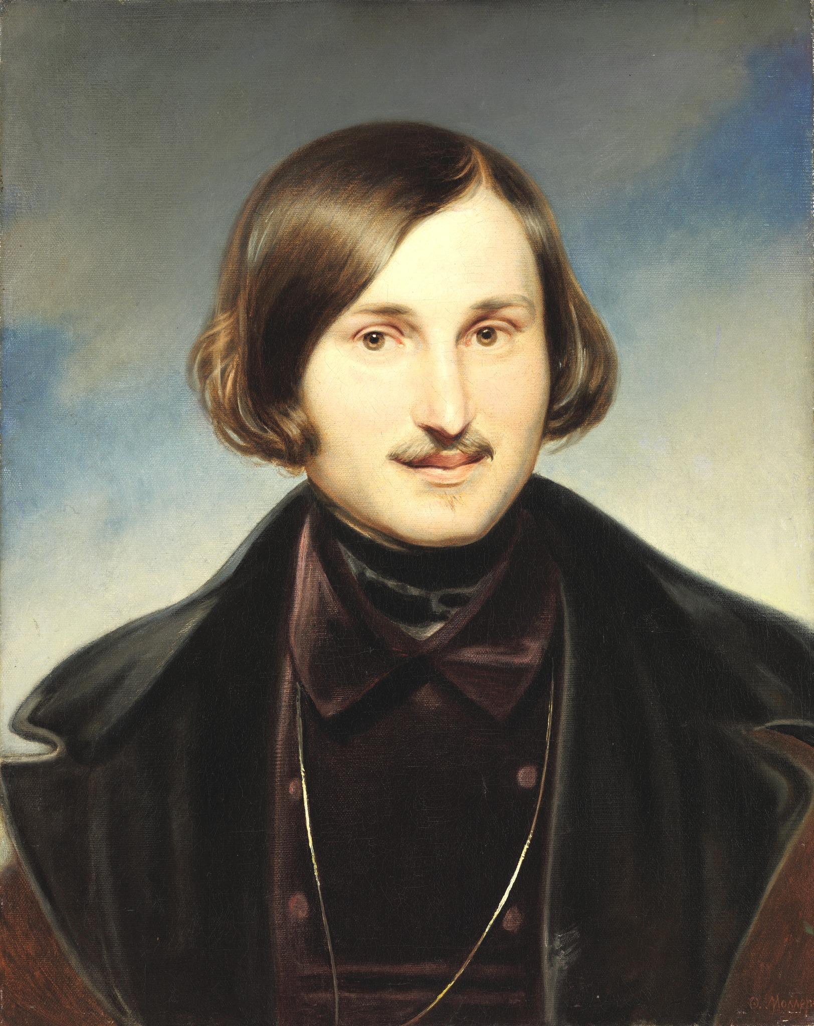 N.Gogol by F.Moller (1840, Tretyakov gallery)