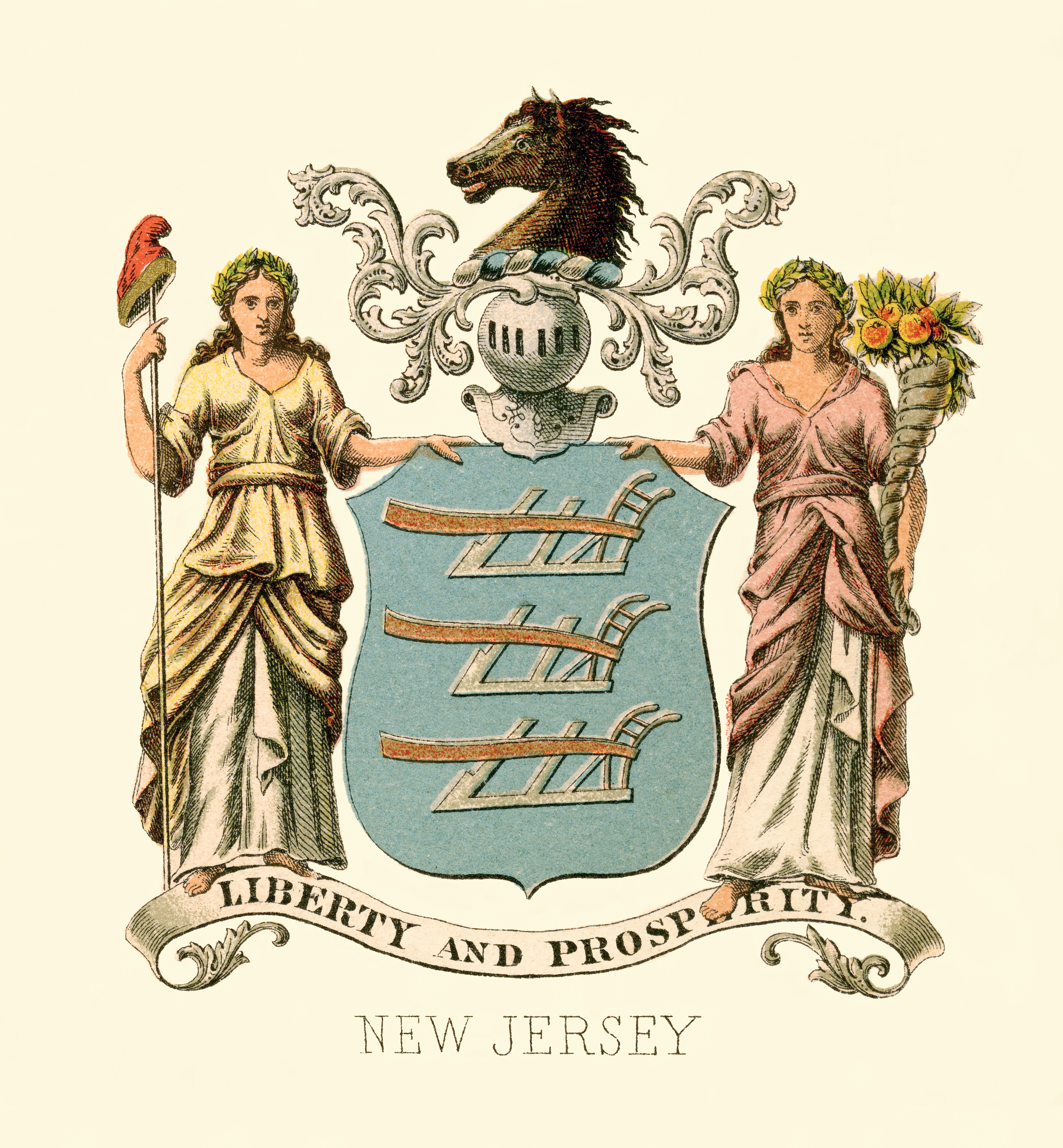 flag and coat of arms of new jersey wikipedia