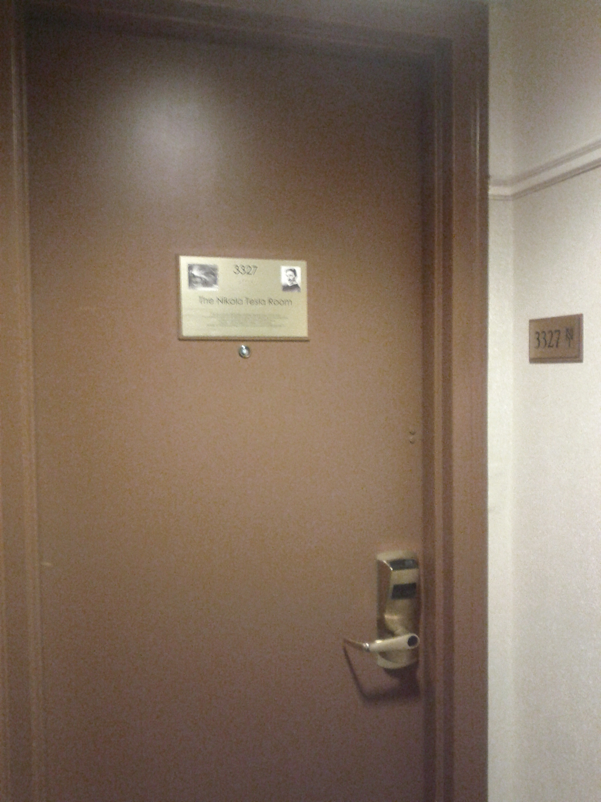 file new yorker hotel nikola tesla apartment door 3327