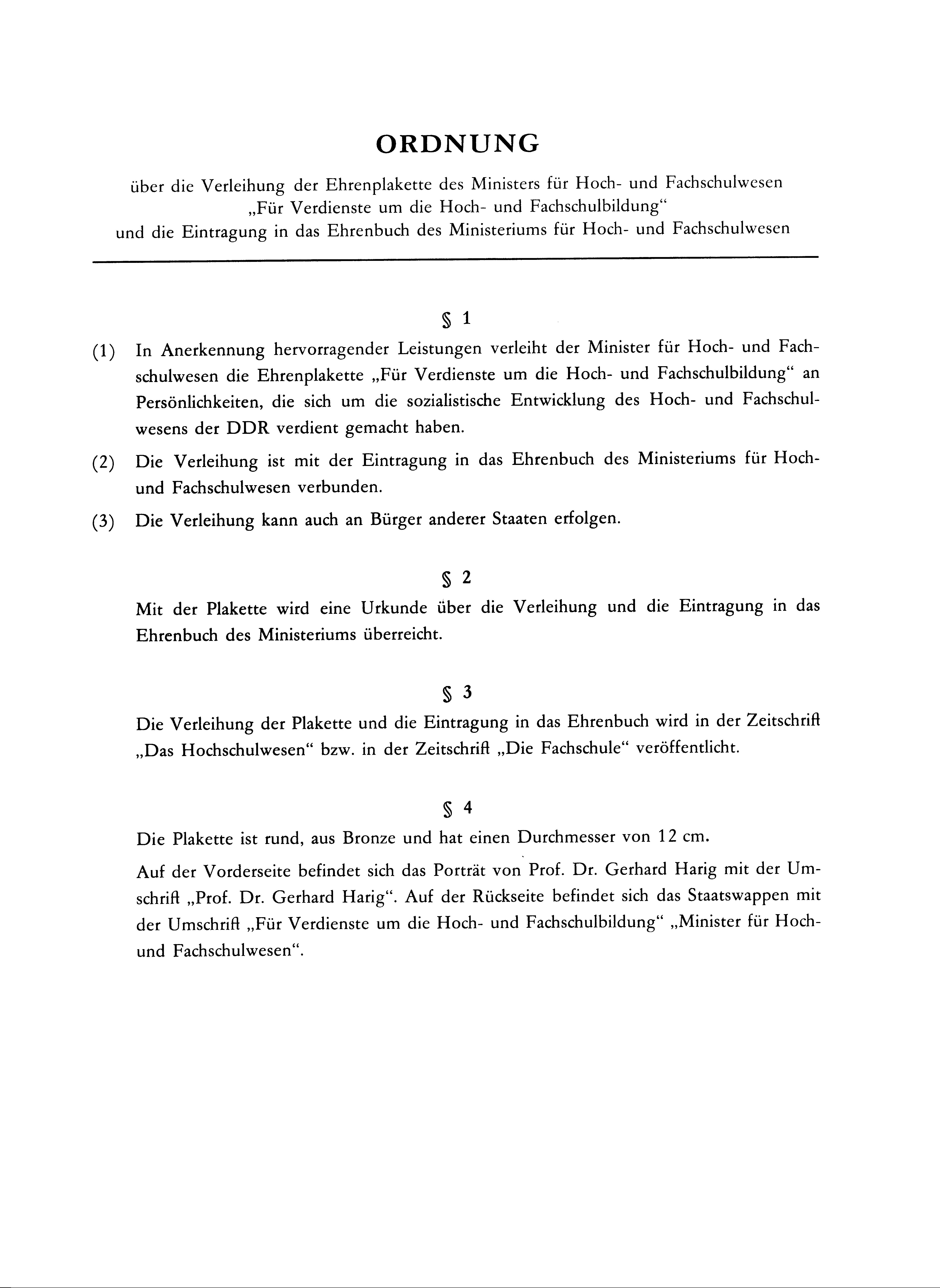Fail:Ordnung der Verleihungsurkunde Ehrenplakette des Ministers für ...