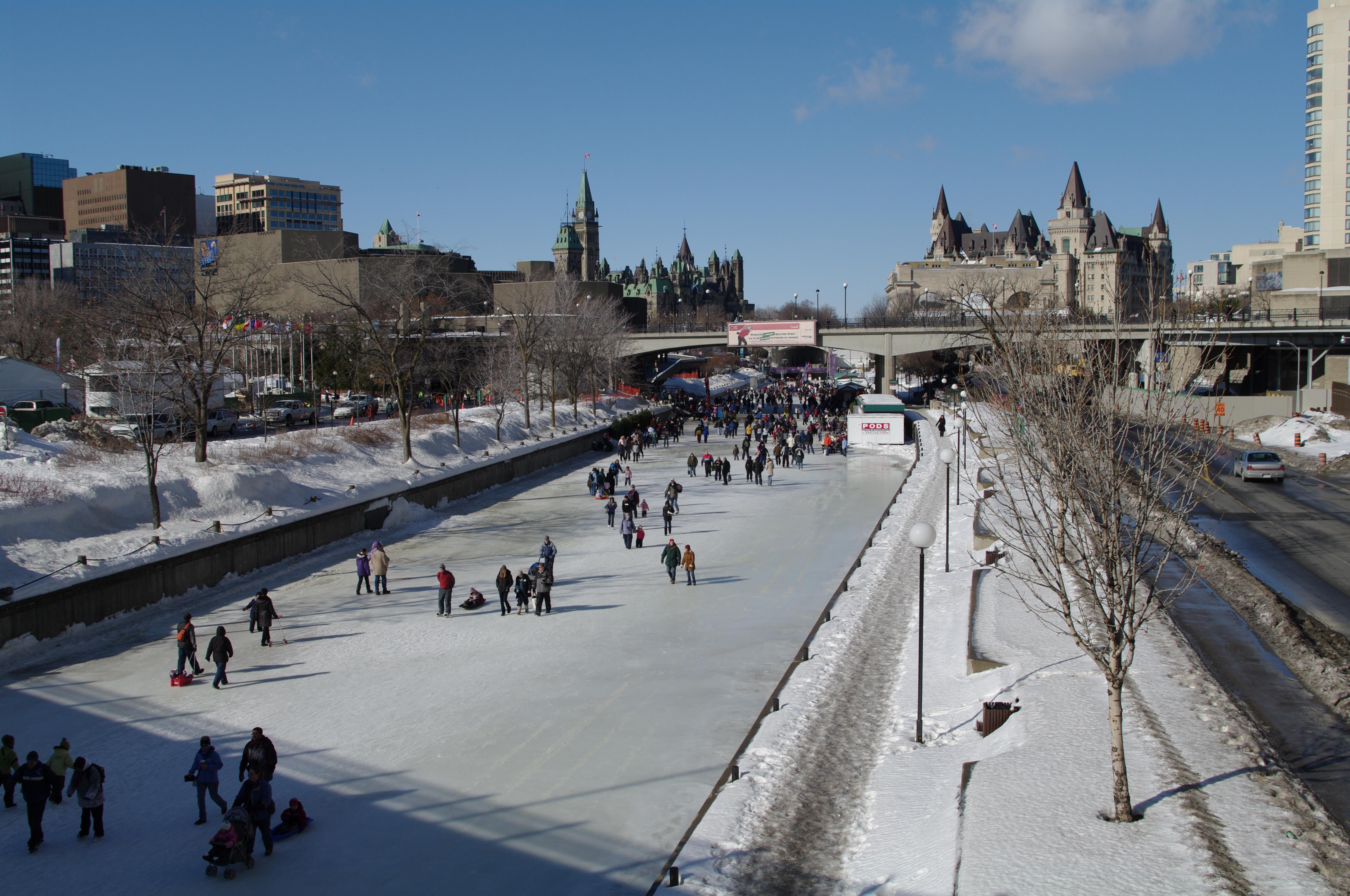 Ottawa Rideau Canal Skating Chateau Laurier Parliament.jpg