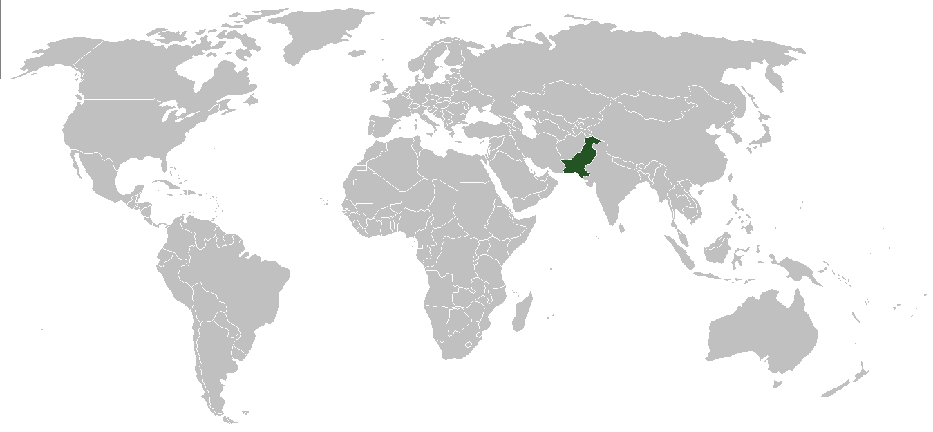 World Map Pakistan
