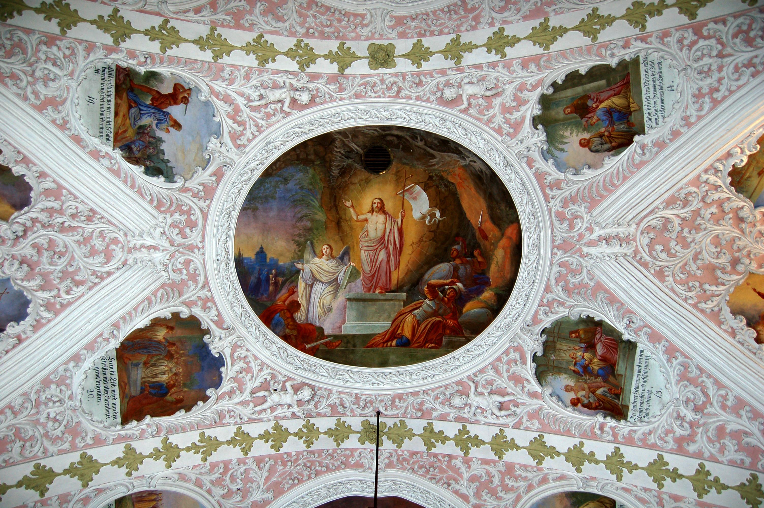File:Parish church, Schalchen, stucco ceiling.jpg ...