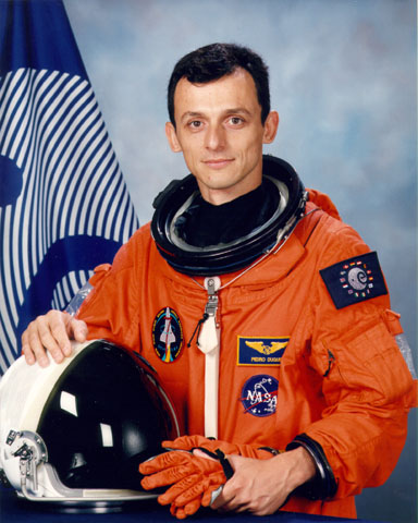 ESA astronaut Pedro DuqueSource: Wikipedia Pedro_Duque-detail.jpg