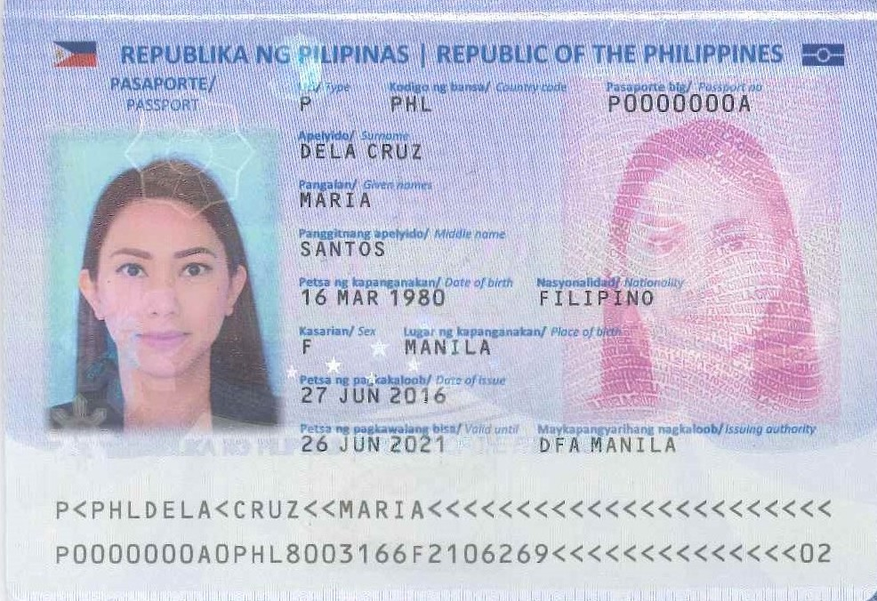 File:Philippine passport (2016 edition) data page (cropped