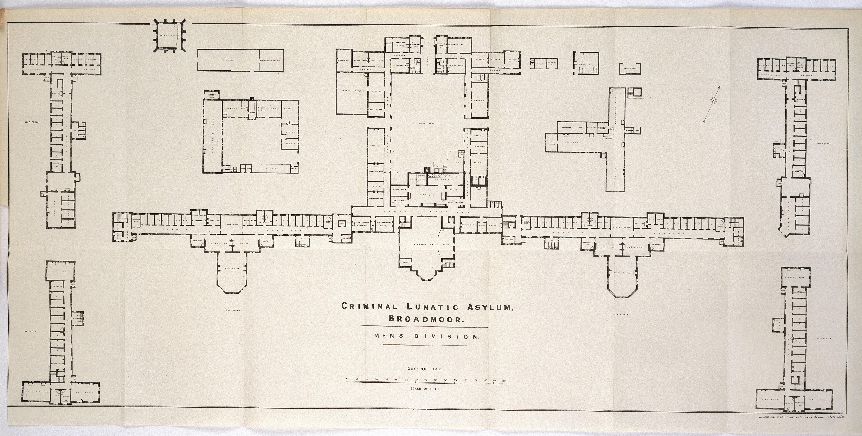 File:Plan Of Men's Division Blocks At Broadmoor Criminal