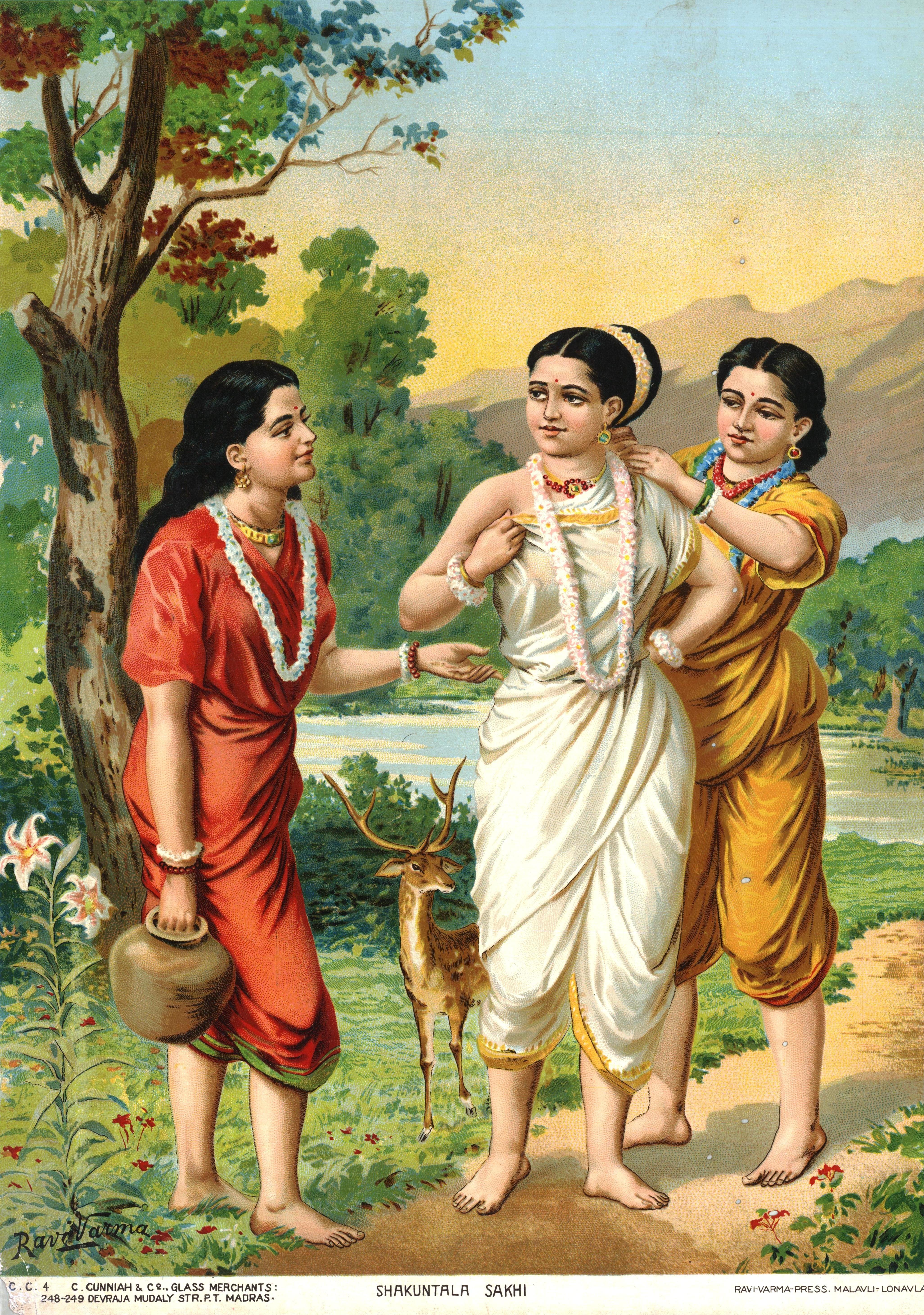 Painting is silent poetry.: Raja Ravi Varma |Raja Ravi Varma Shakuntala