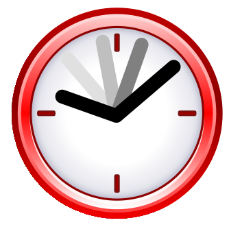 Image result for red clock