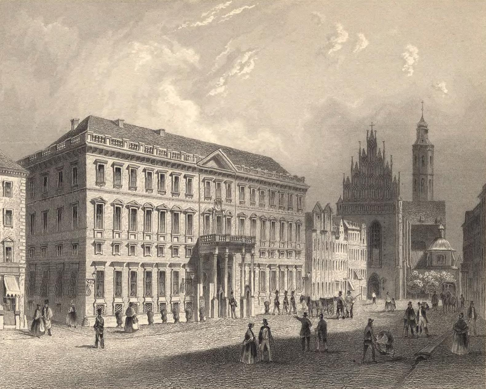 https://upload.wikimedia.org/wikipedia/commons/b/b2/Regierungsgeb%C3%A4ude_und_Dominikanerkirche_in_Breslau.jpg