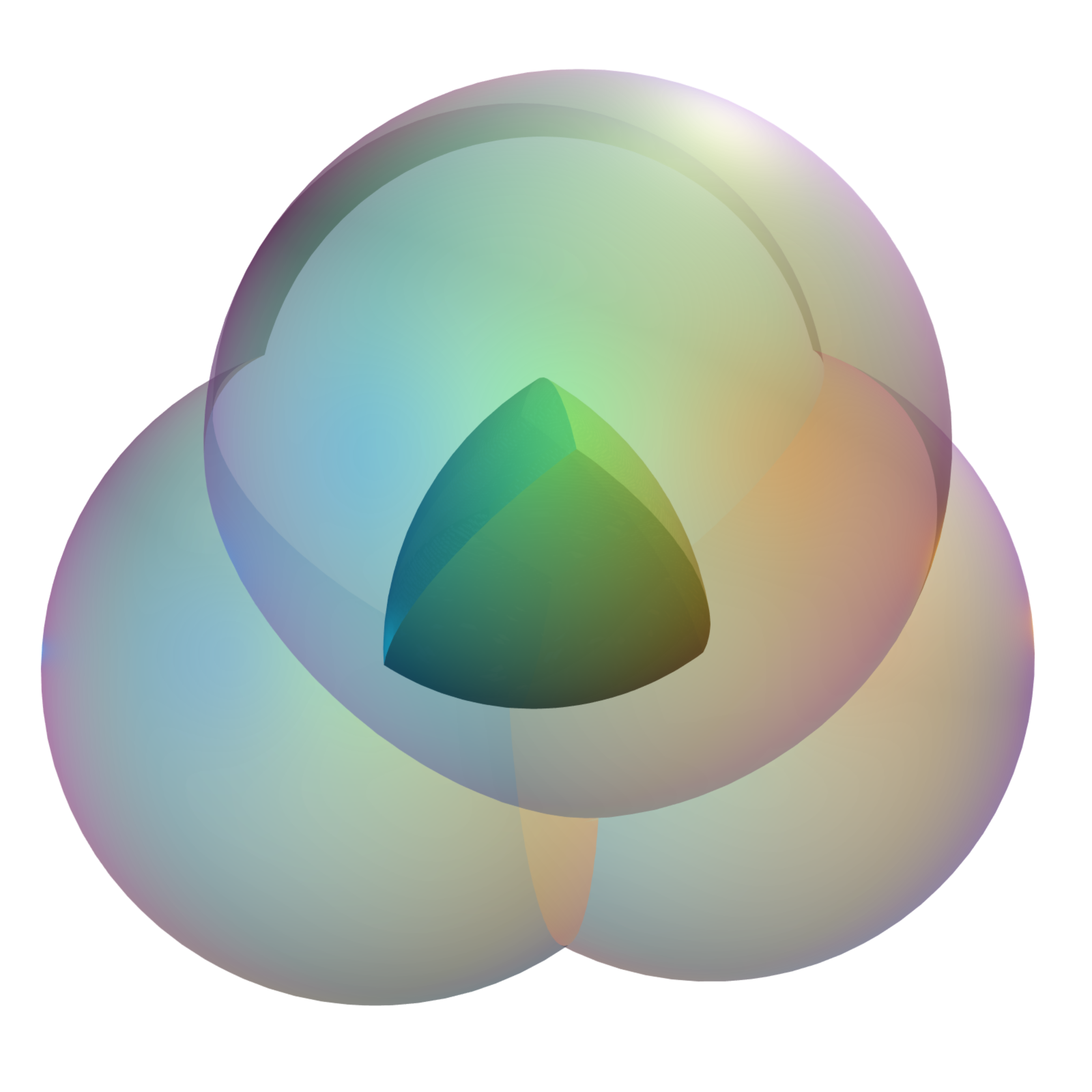 The 3 Dimensional Analogue Of The Reuleaux Triangle Is The Intersection Of  The Interiors Of 4 Spherical Balls Of Radius R, Each Of Which Goes Through  The
