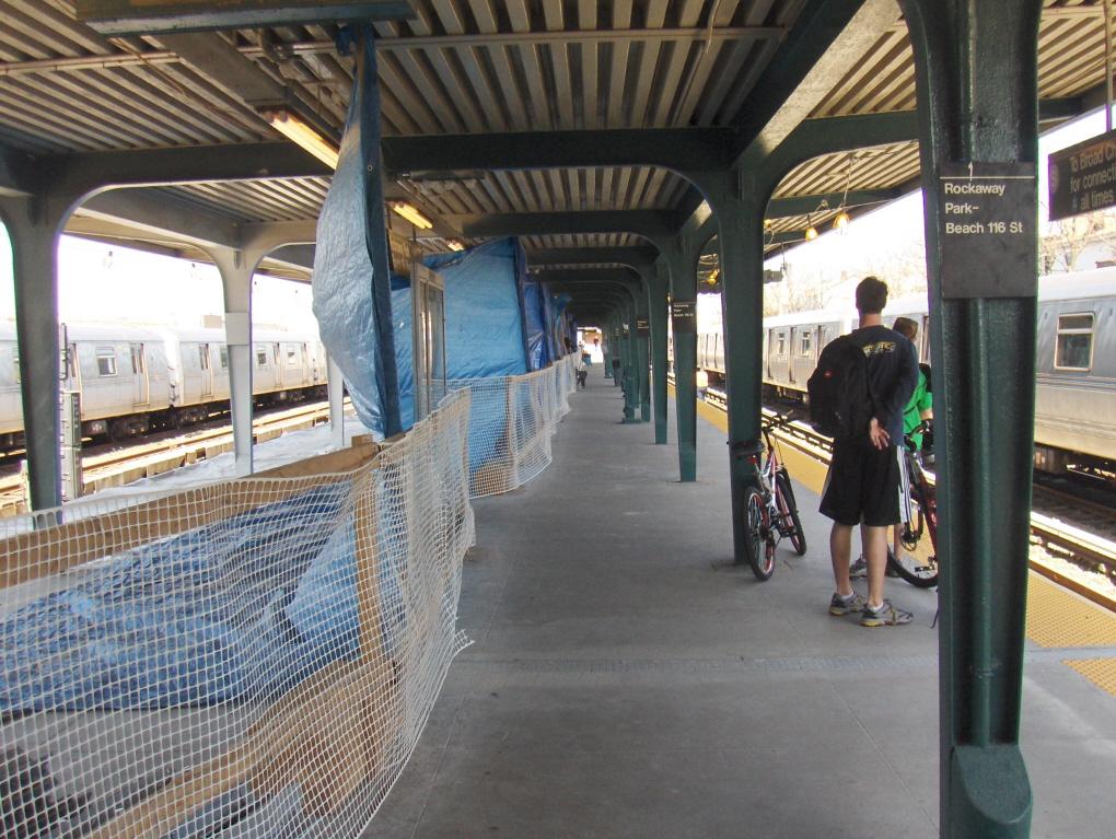 File Rockaway Park Beach 116th Street Station Under Reconstruction 2007 Jpg
