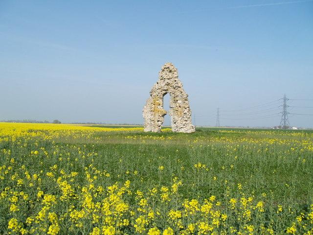 Ruined Chapel Romney Marsh - geograph.org.uk - 1288588