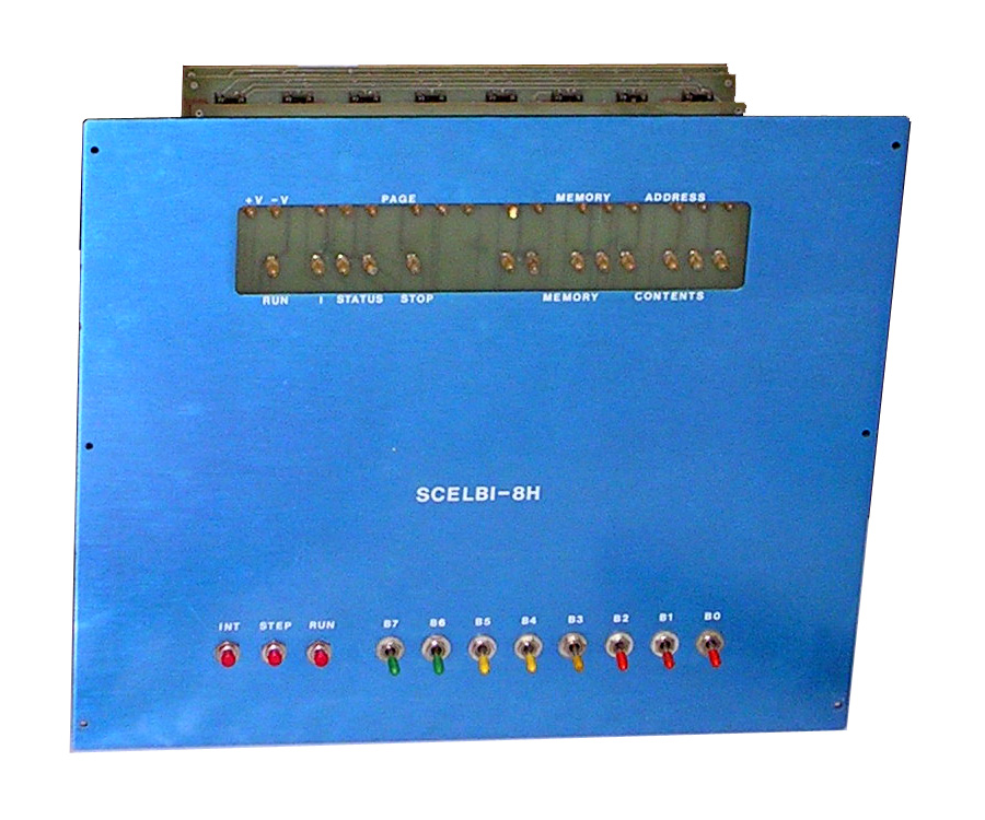 Scelbi 8H front panel