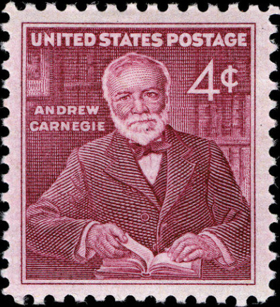 Image result for andrew carnegie stamp