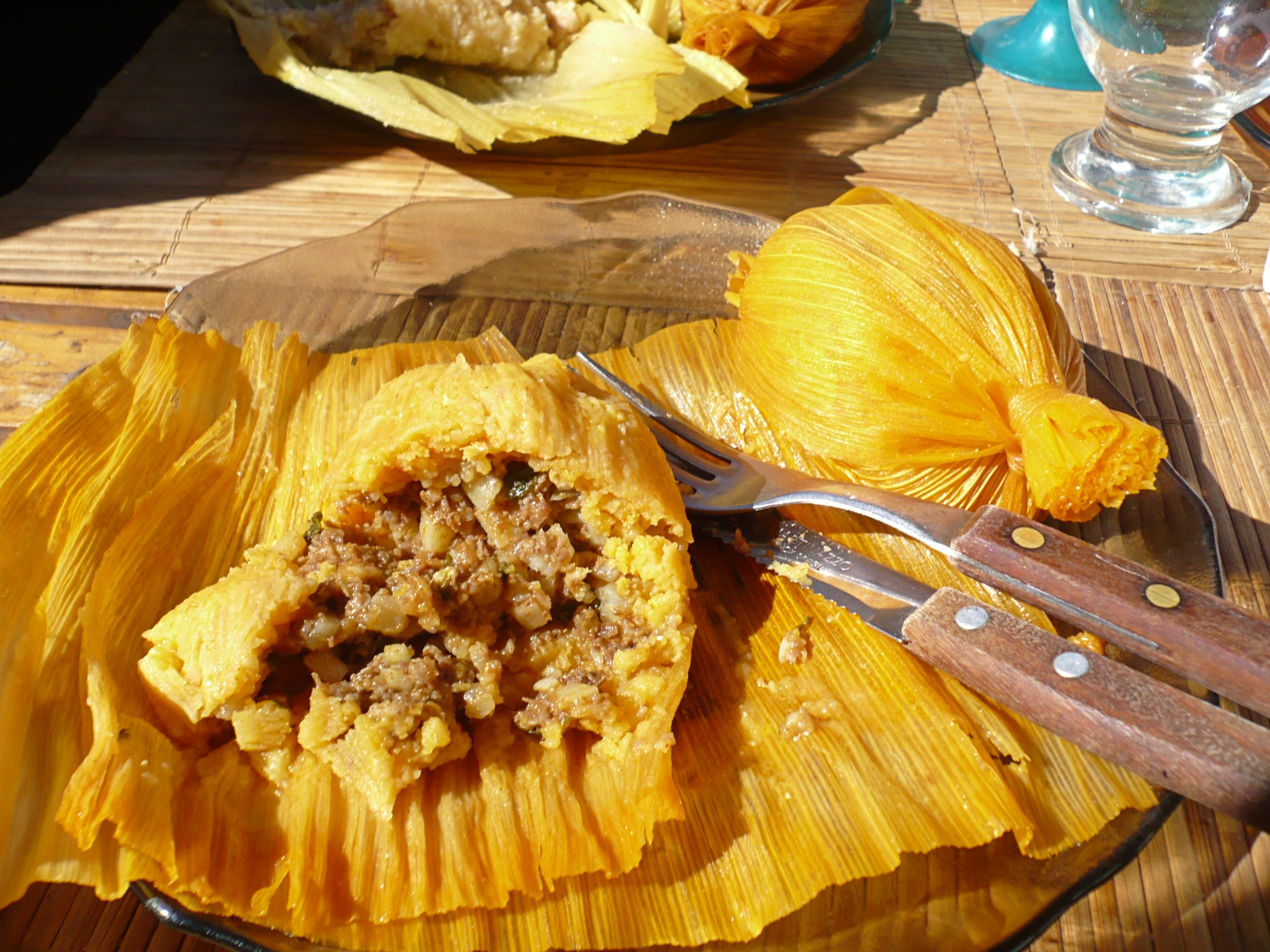 Mexican Tamales And Food