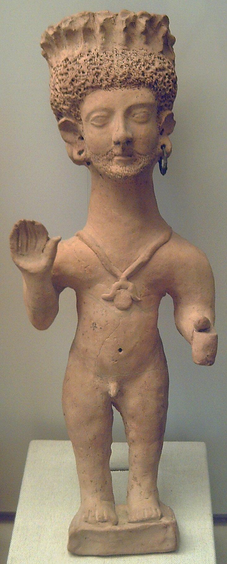 Terracota púnica orante encontrada en Ibiza