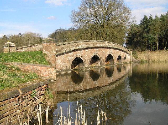 TheSham Bridge, Chillington Estate - geograph.org.uk - 660698