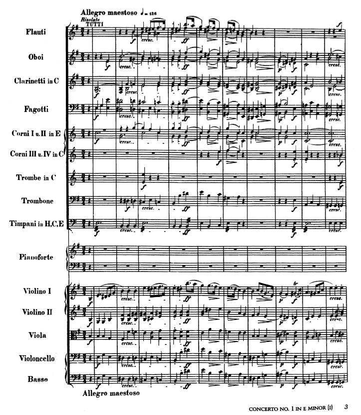 Piano Concerto No. 1 in E minor, op. 11